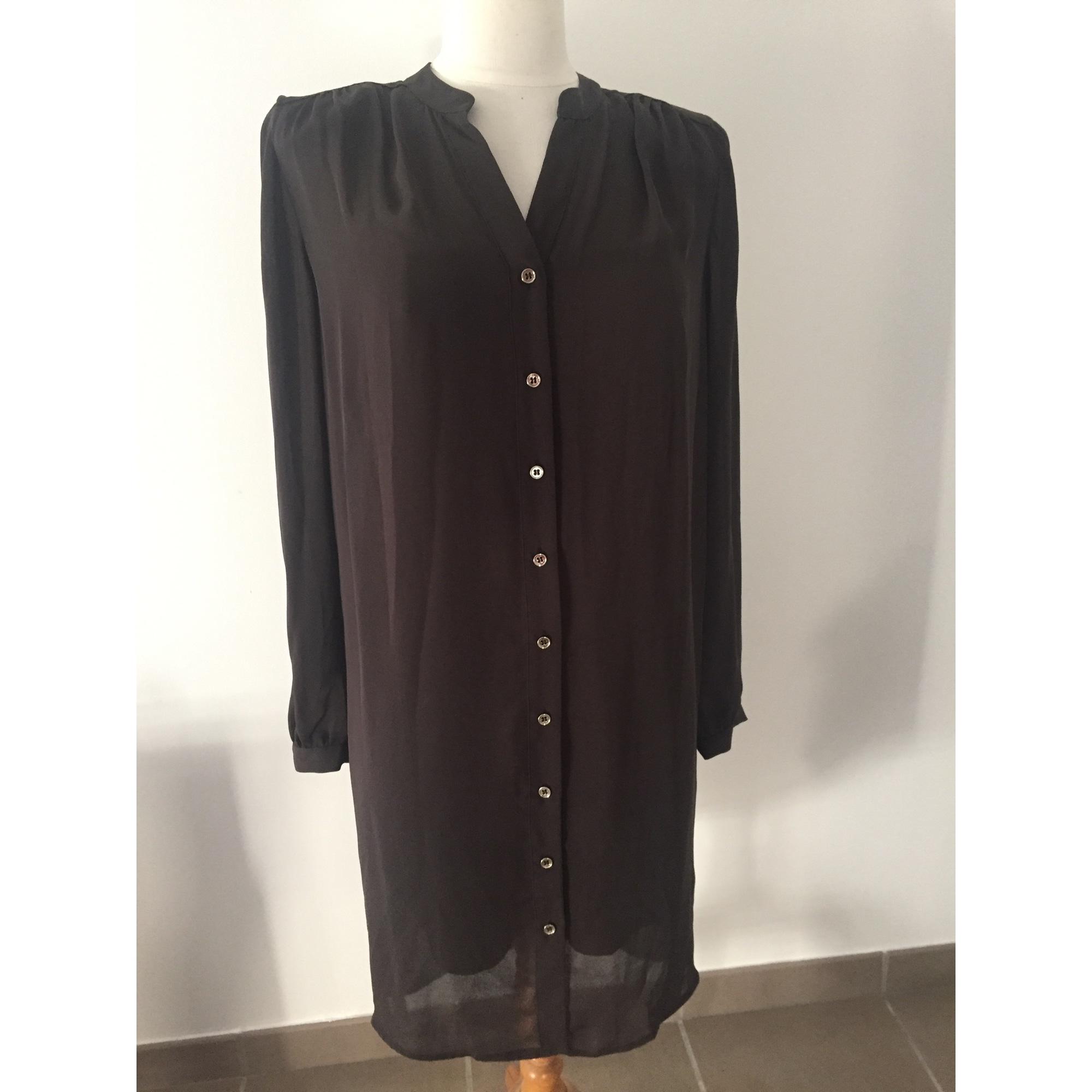 7b7404f2959 Robe tunique GUESS Marron