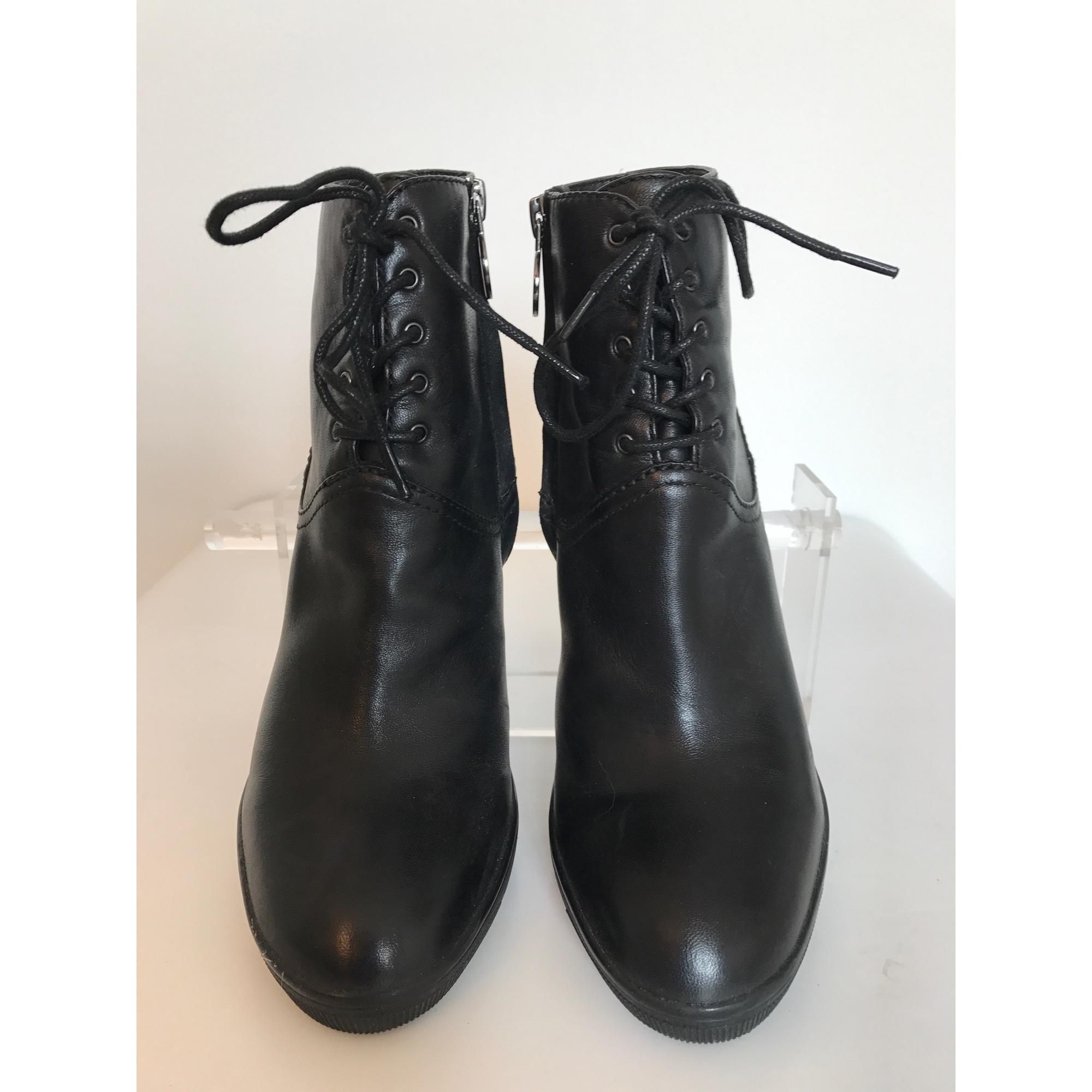 42097429646 Bottines   low boots à talons GEOX Noir