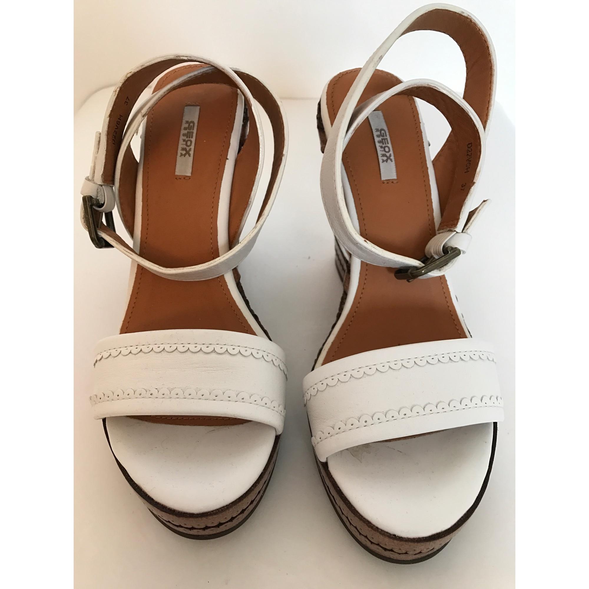 Sandales compensées GEOX Blanc, blanc cassé, écru 91bba25a5db5