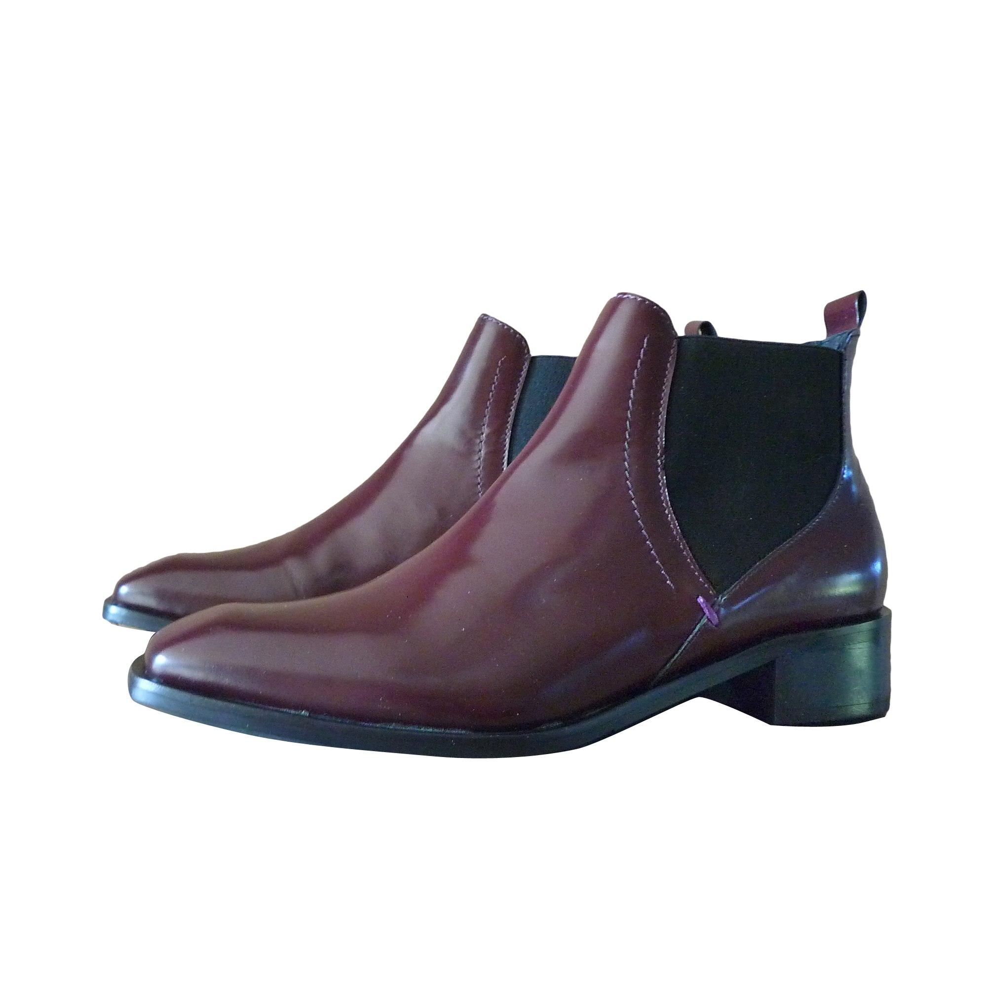 De Par Bordeaux 37 Lie Vin amp; Low Vendu Plates Bata Bottines Boots Za8A1qx