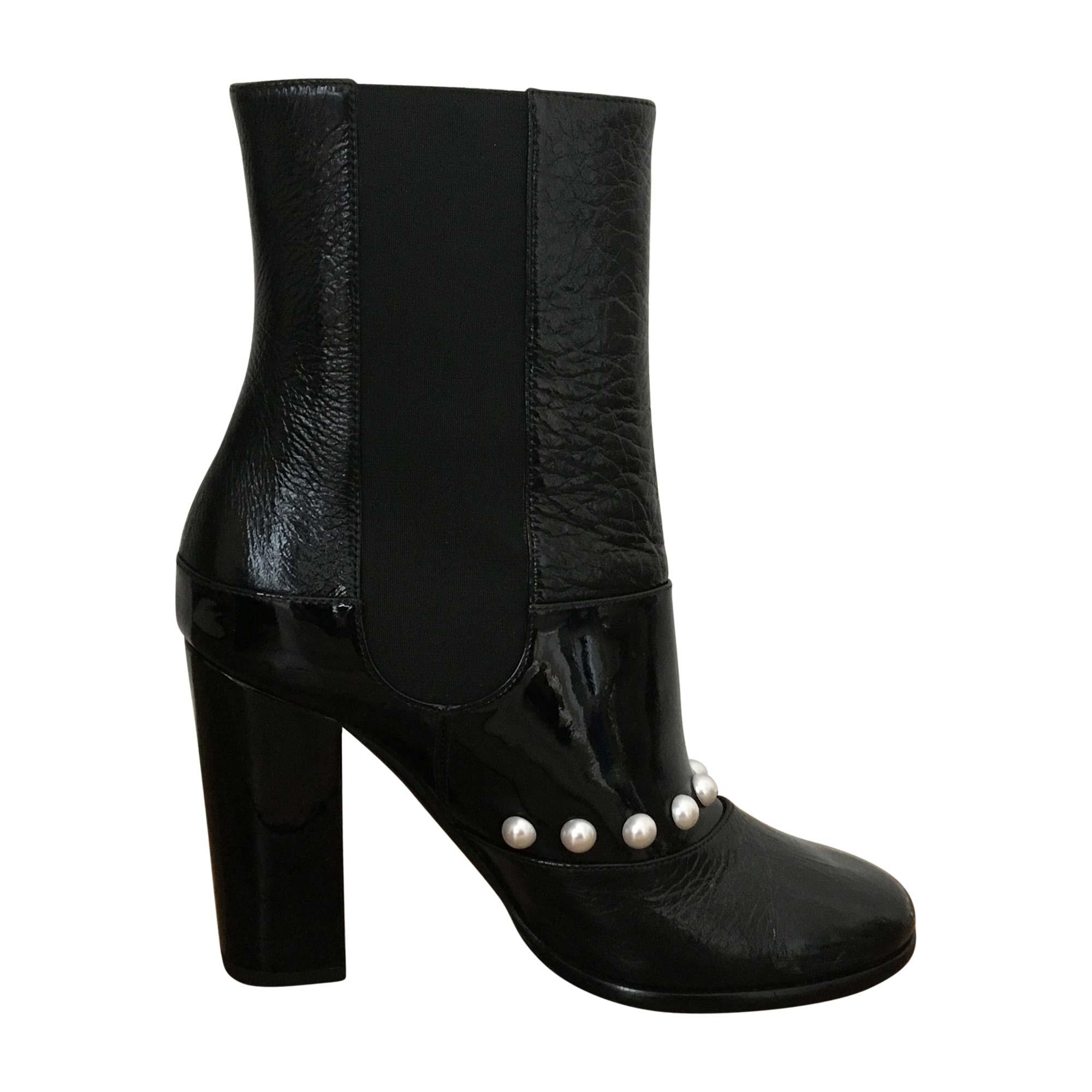 Bottines   low boots à talons CHANEL 37 noir - 6006967 3aefa8b94ae