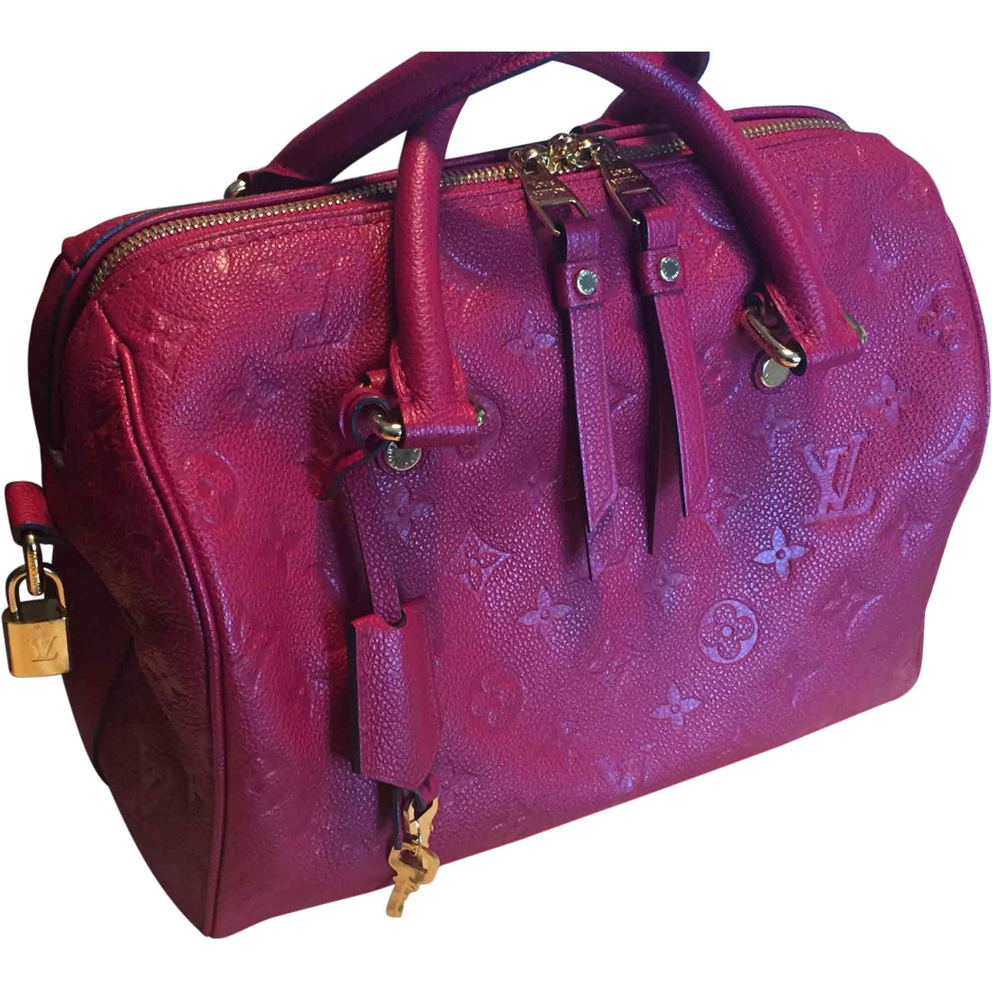 18860cc9ee Borsa a tracolla in pelle LOUIS VUITTON Speedy Rosso, bordeaux