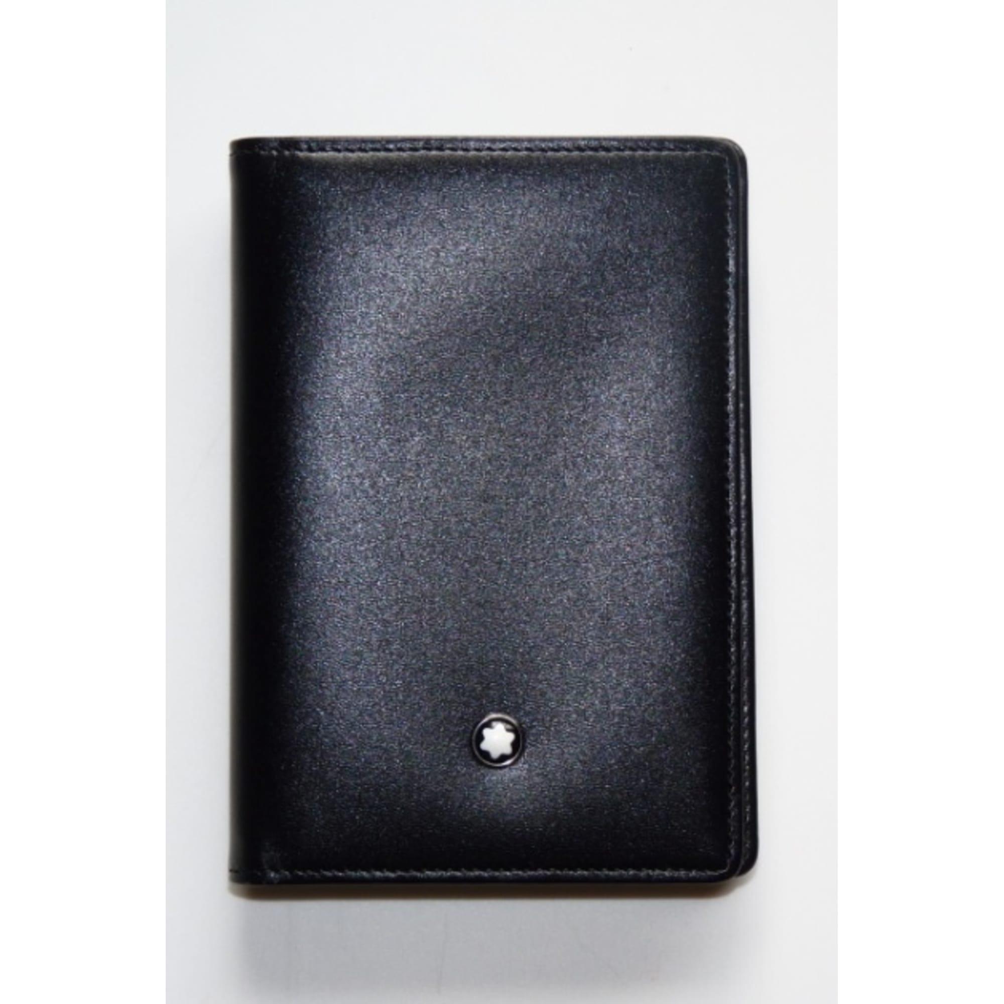 porte cartes montblanc noir vendu par mouche 39 s dressing. Black Bedroom Furniture Sets. Home Design Ideas