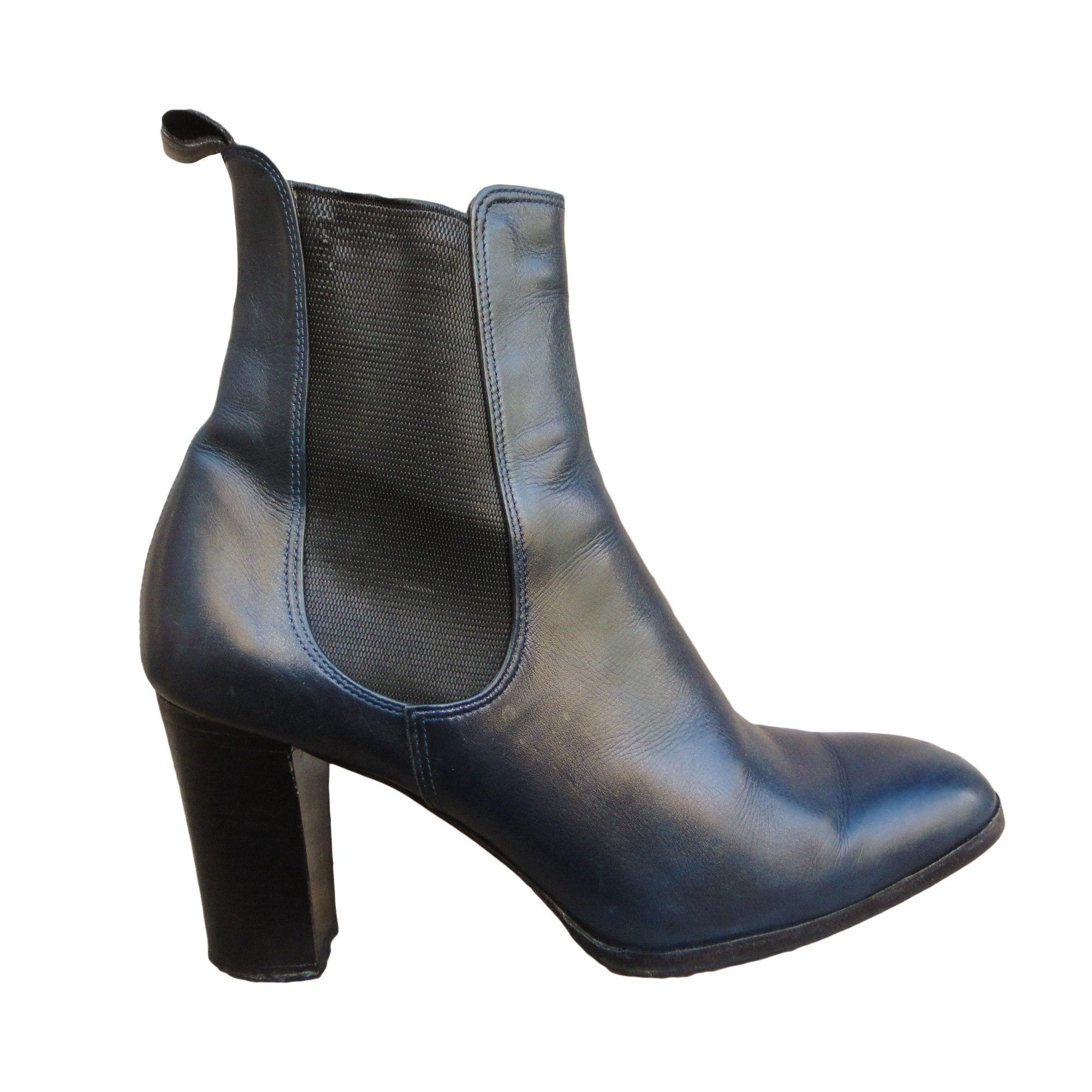 Bleu Boots Colisee À amp; Low Par Bottines 37 Sacha Talons Vendu De 5 xqBRvnX