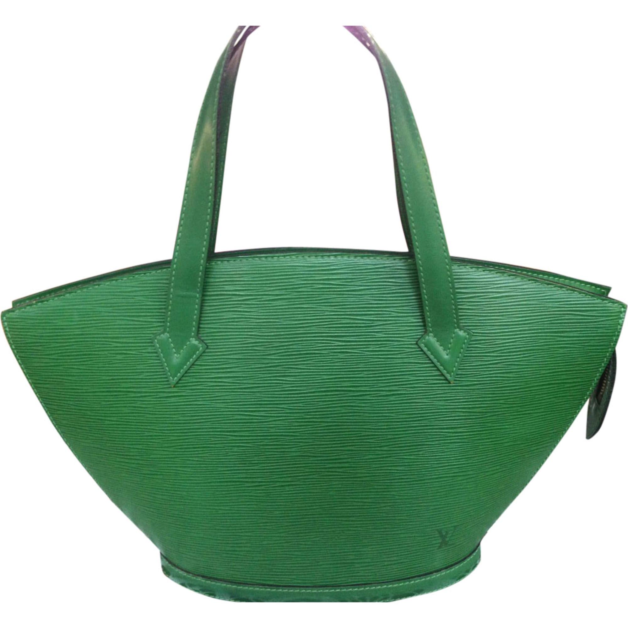 8fd560d3741e Sac à main en cuir LOUIS VUITTON vert vendu par Luxe recyclé - 6068894