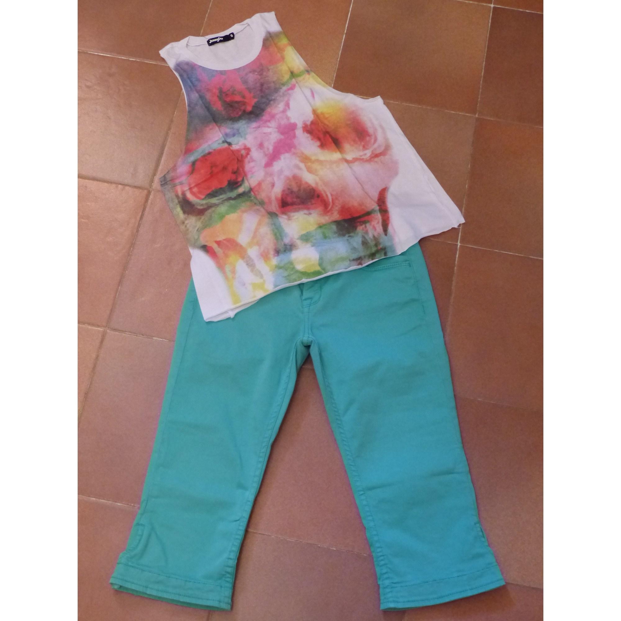Pantalon LE TEMPS DES CERISES coton vert 13-14 ans