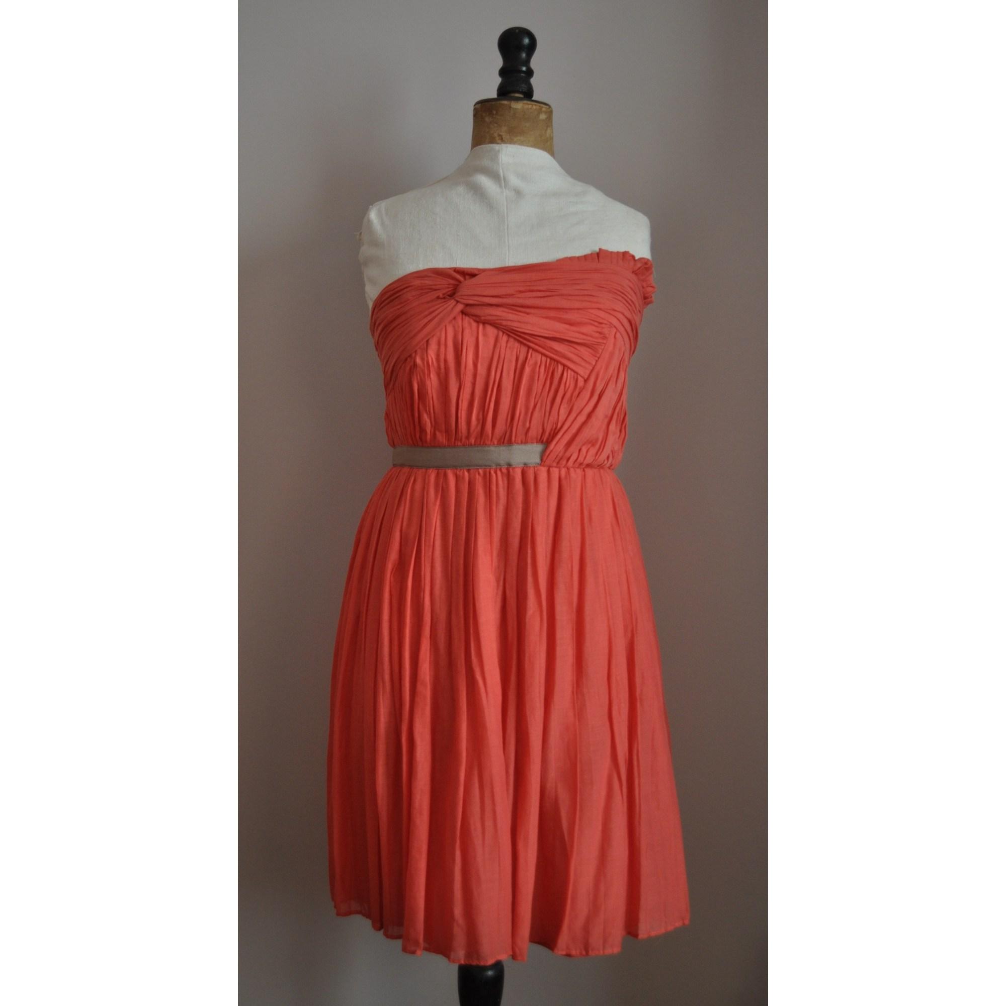 9f934a7092ac Robe bustier MANGO Orange
