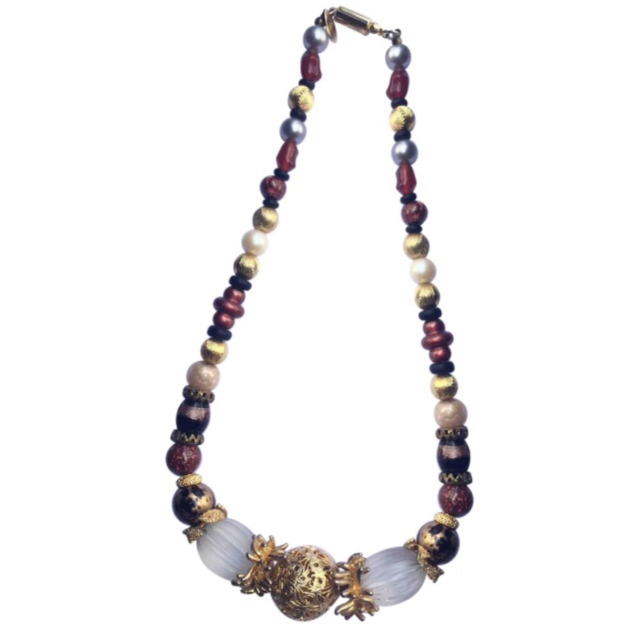 Collier EMANUEL UNGARO perle (imitation) multicolore