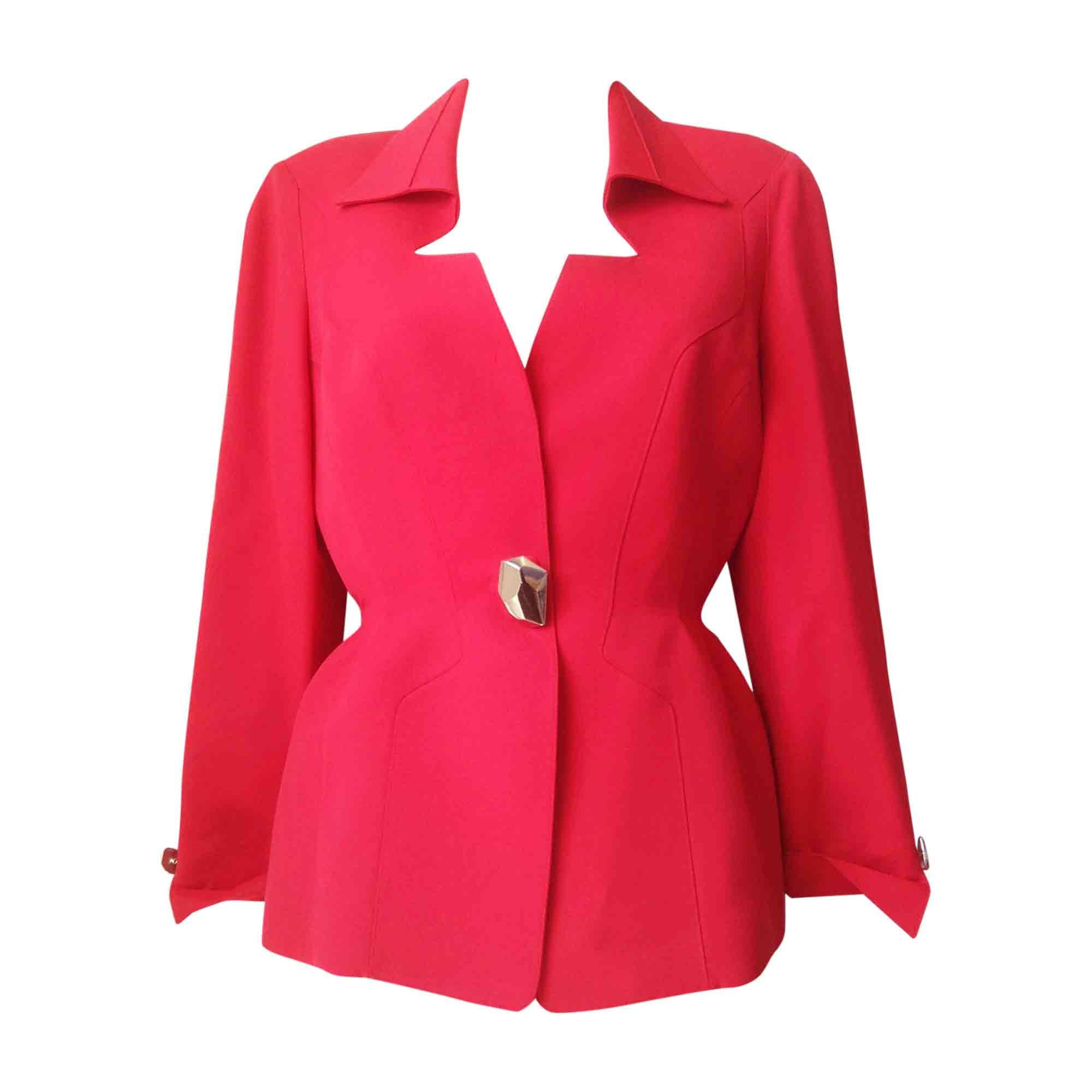 a4d1cd483fe6 Blazer, veste tailleur THIERRY MUGLER 40 (L, T3) rouge - 6092481
