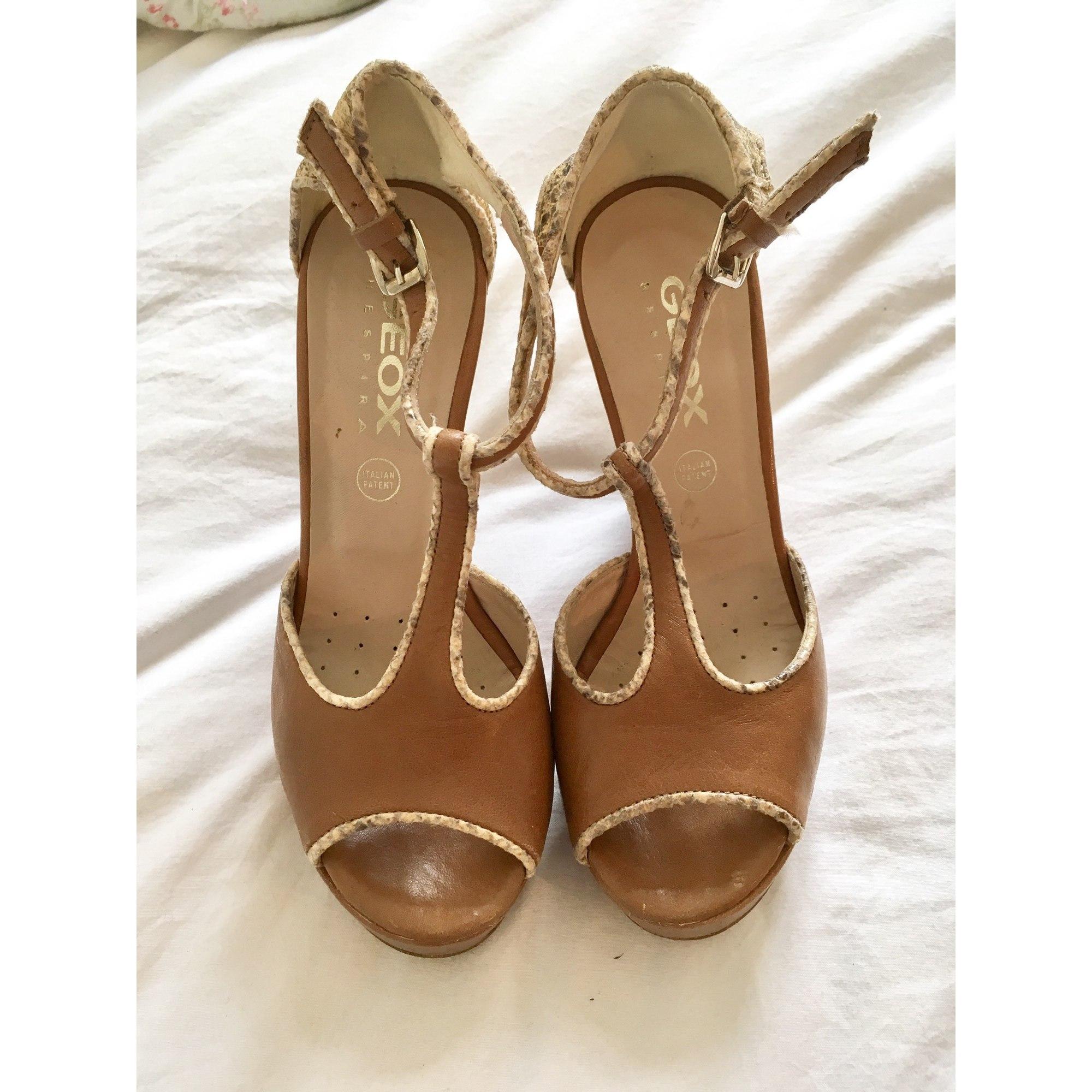 Sandales compensées GEOX 36 beige - 6097338 25dfc054f6fb