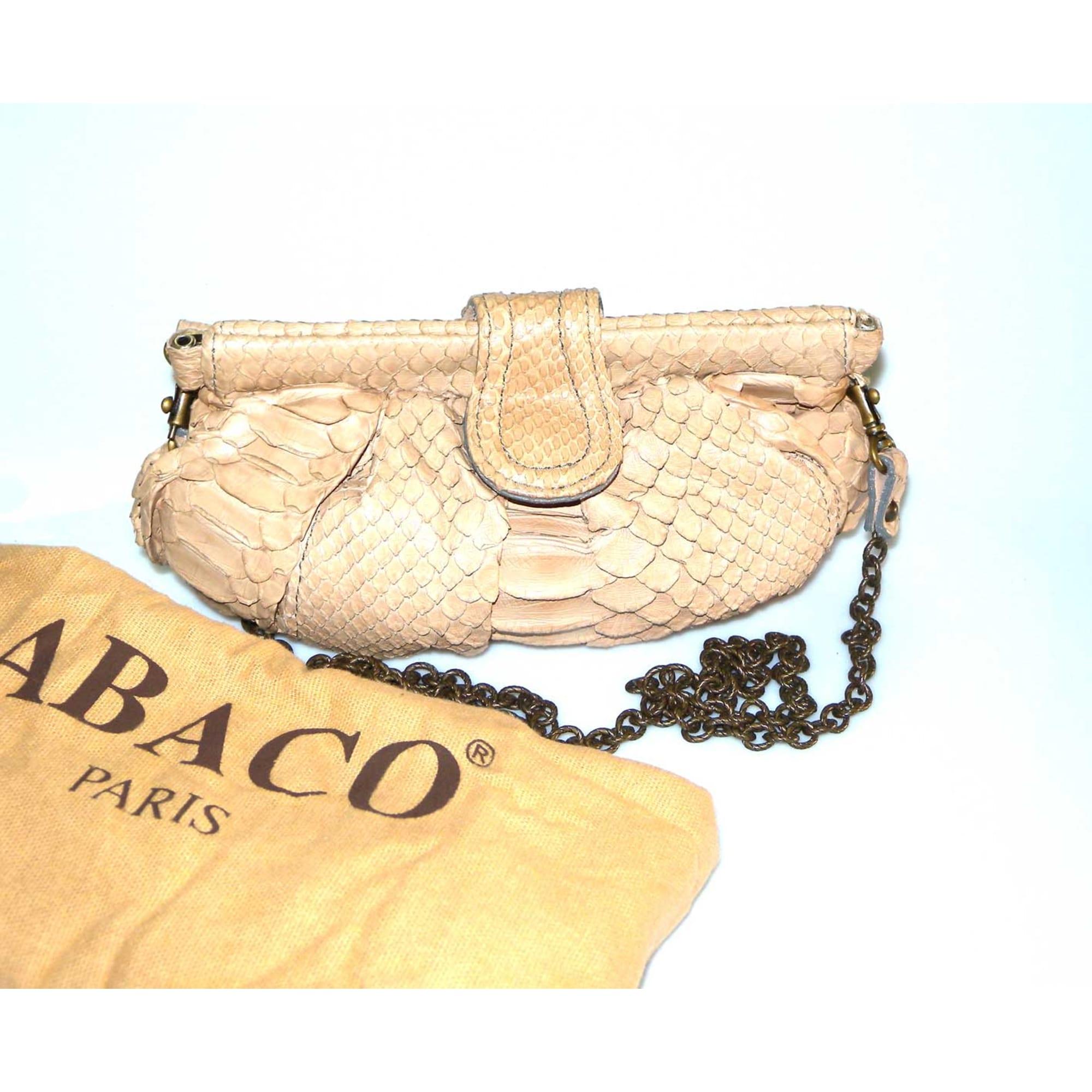 16cf34be2c Sac pochette en cuir ABACO beige - 6105459