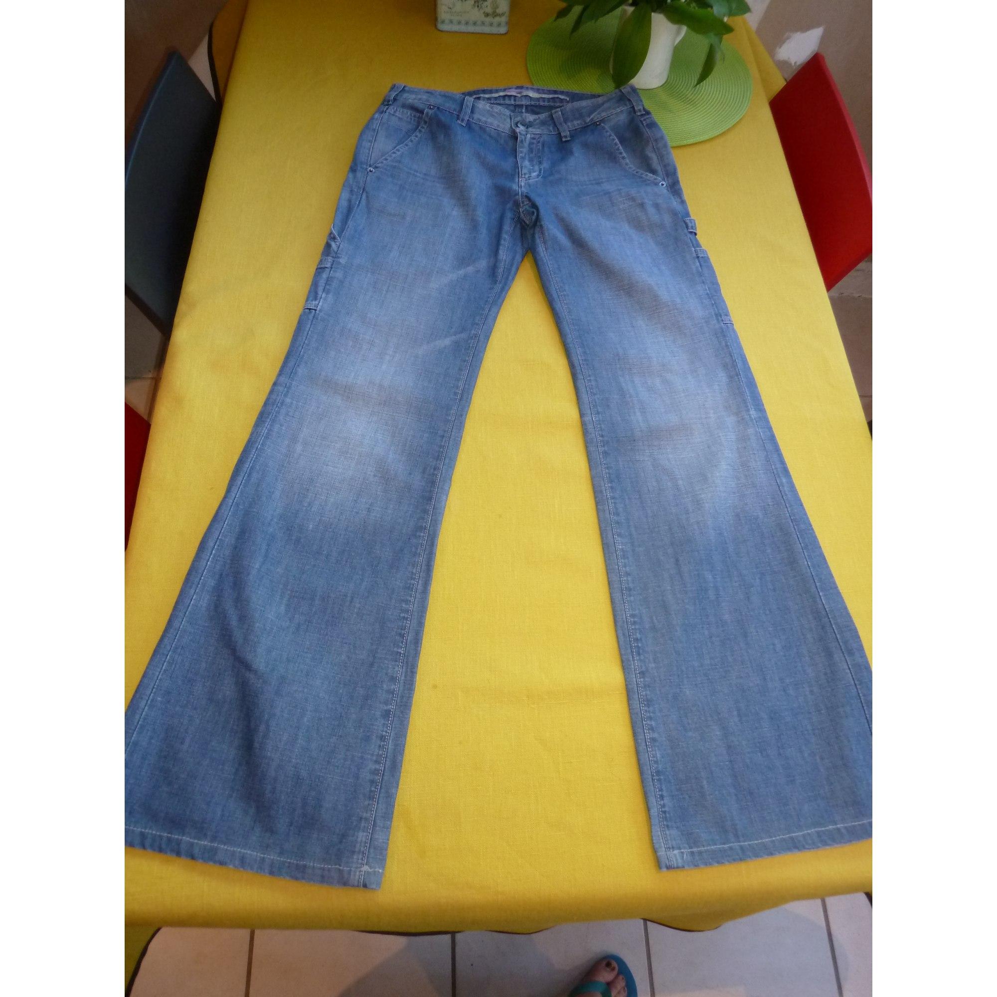 Jeans large, boyfriend VANESSA BRUNO Bleu, bleu marine, bleu turquoise