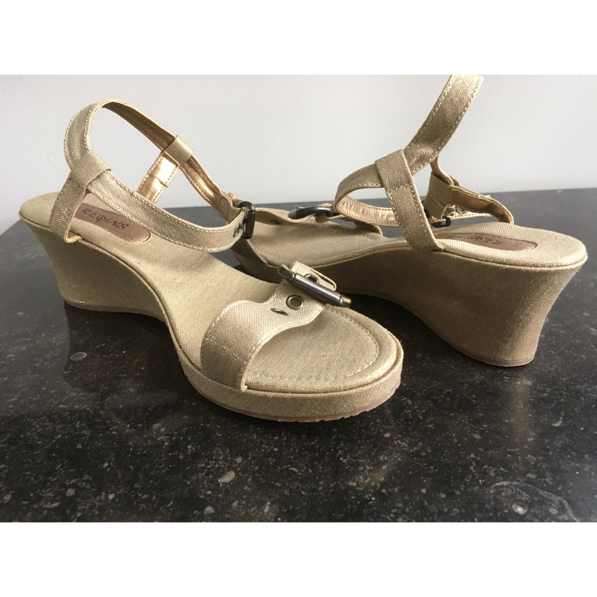 Sandales compensées REQINS Doré, bronze, cuivre