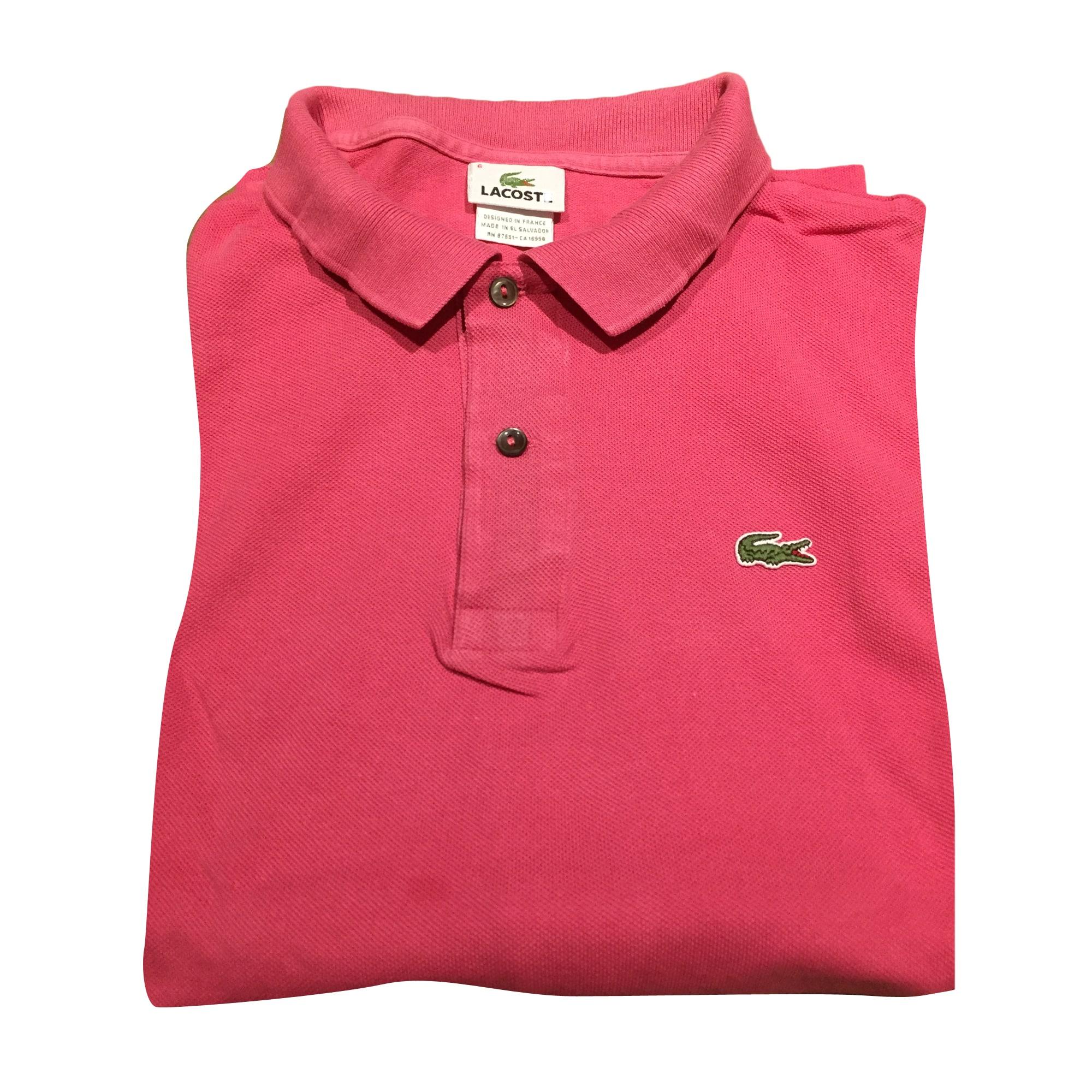 Polo LACOSTE 4 (XL) pink vendu par Titi 504 - 6152230 bd0012f6ca