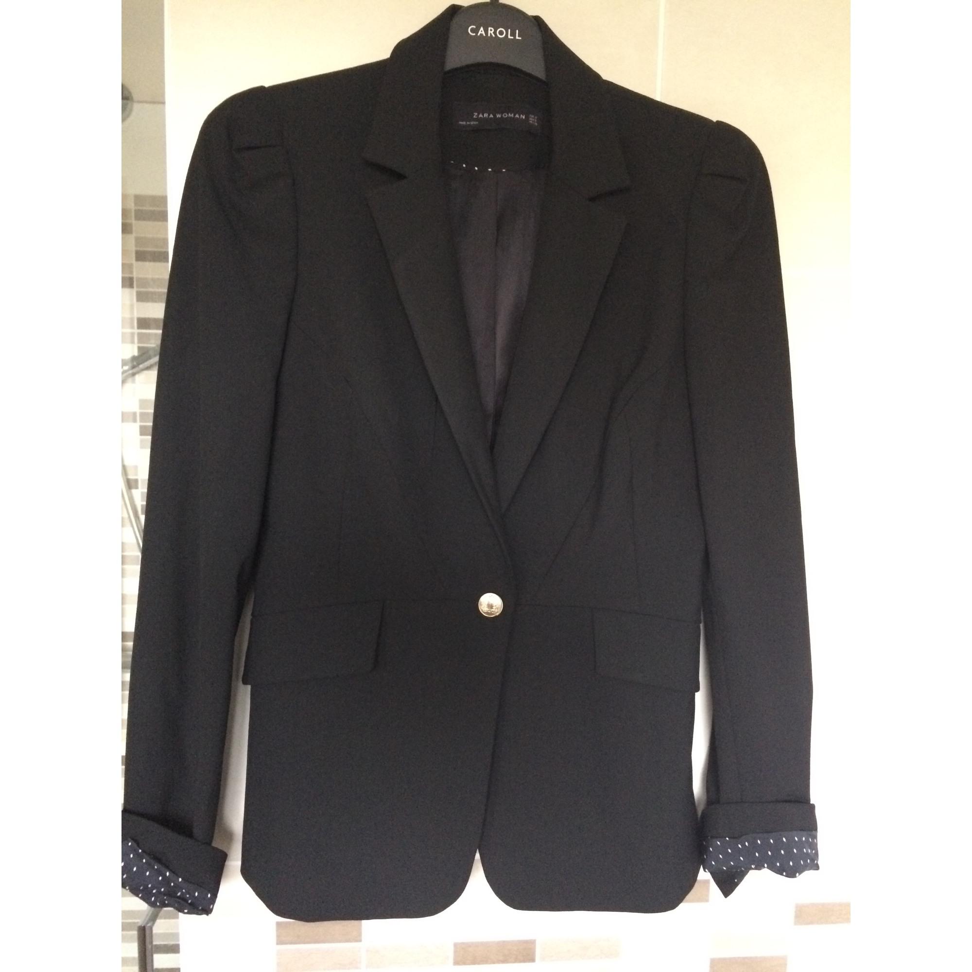 Blazer 6163561 Tailleur 36 Zara Noir Veste T1 s f0Prqwfgxz
