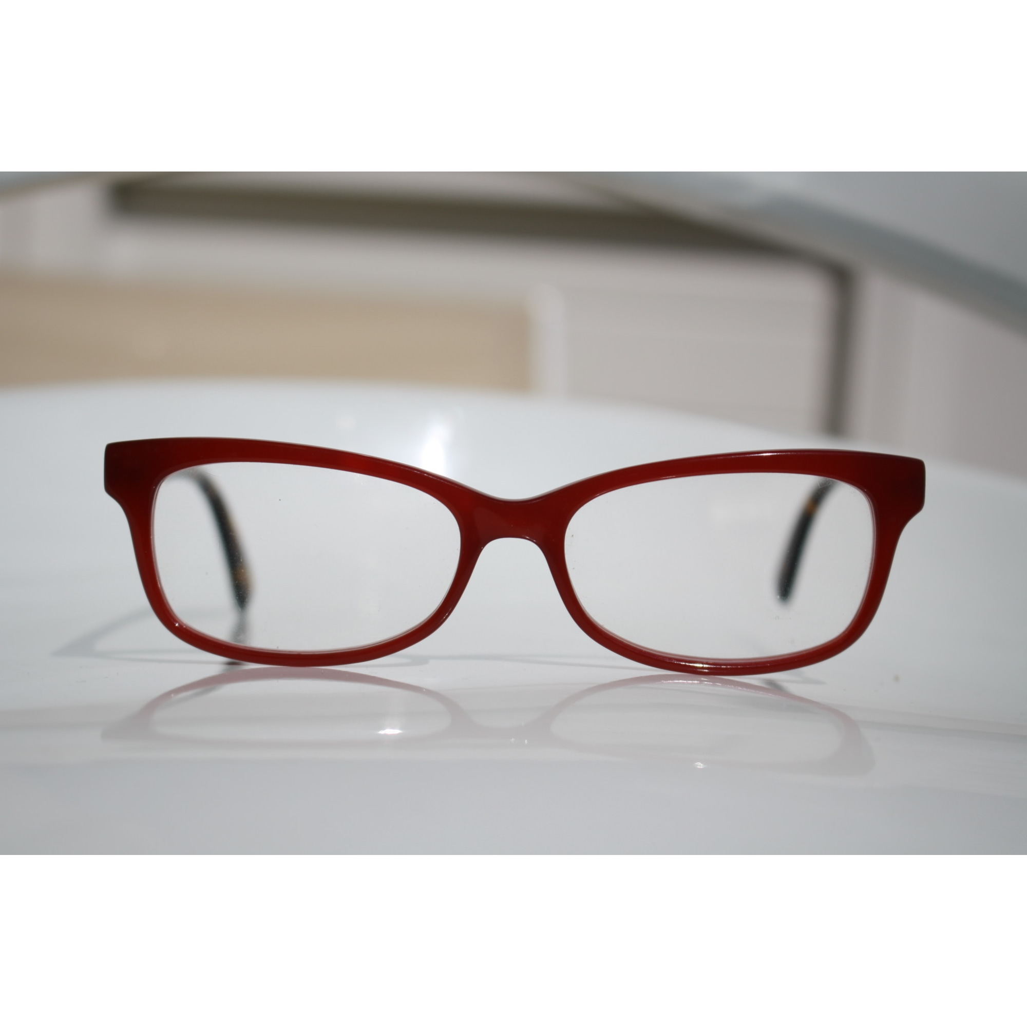 9fae63d18a4 Monture de lunettes SENSAYA rouge avec branches motfi animaliers ...
