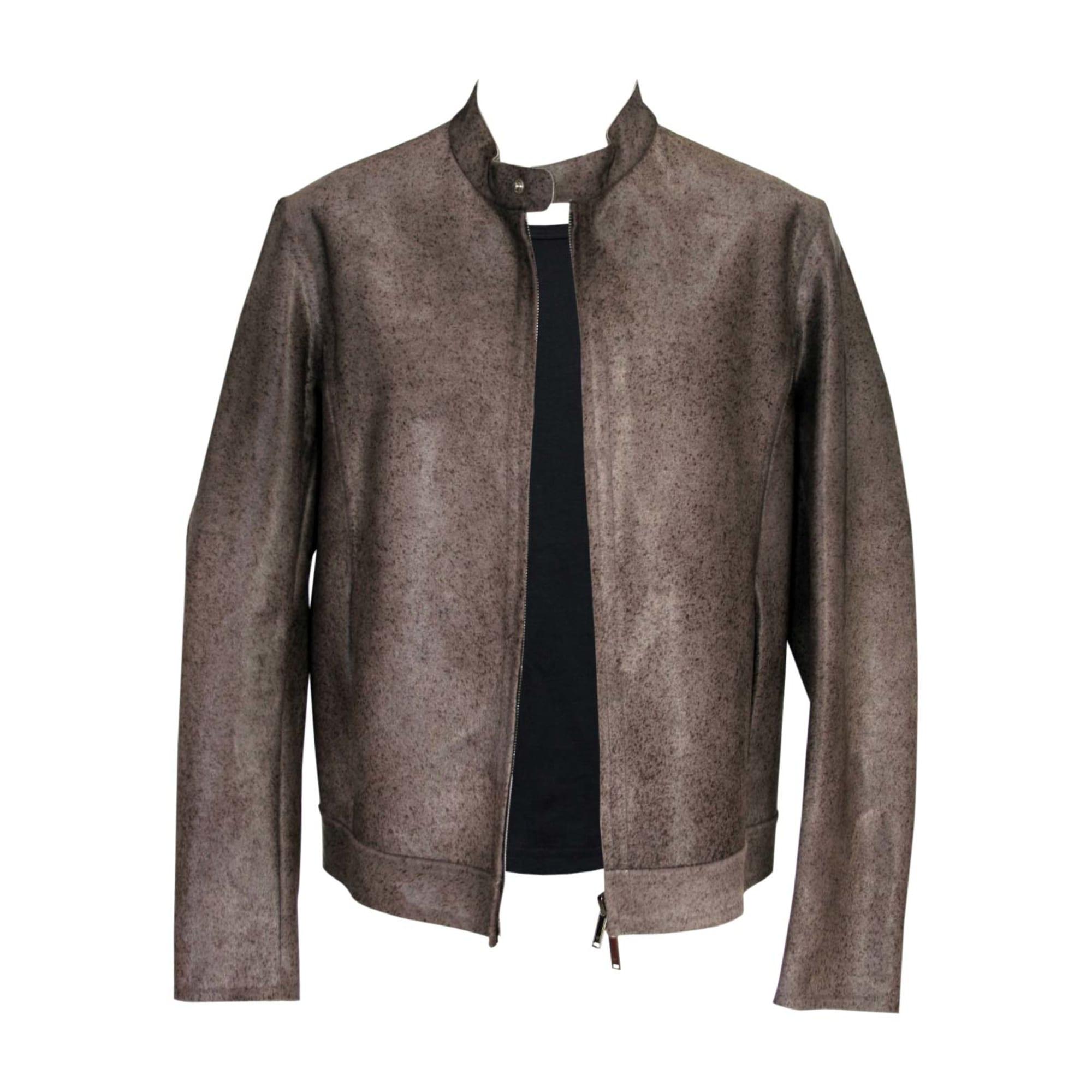 Veste en cuir EMPORIO ARMANI 52 (L) marron - 6167530 b1c8fee9436