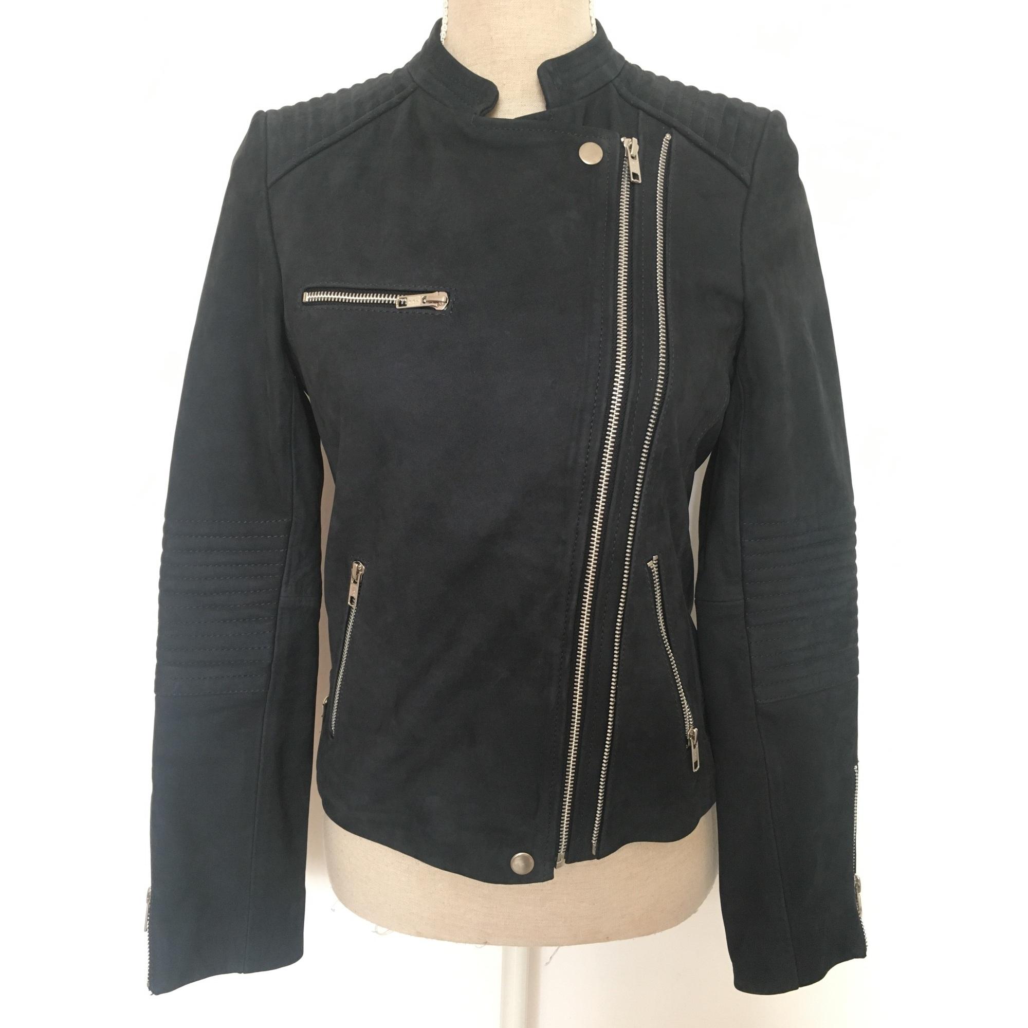 Veste en cuir CAROLL 36 (S, T1) bleu vendu par Anastasia - 6177752 10c1d1763c22