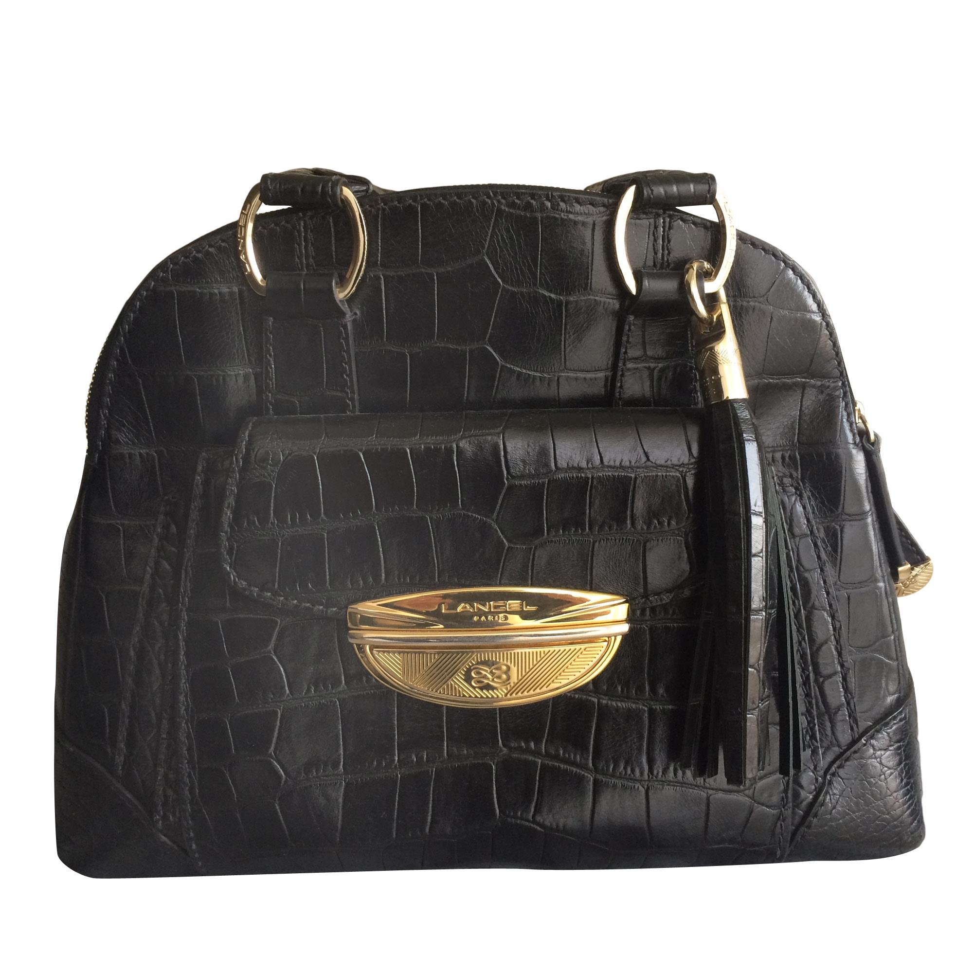 362ddf4977 Sac à main en cuir LANCEL brigitte bardot noir vendu par Alexandra ...