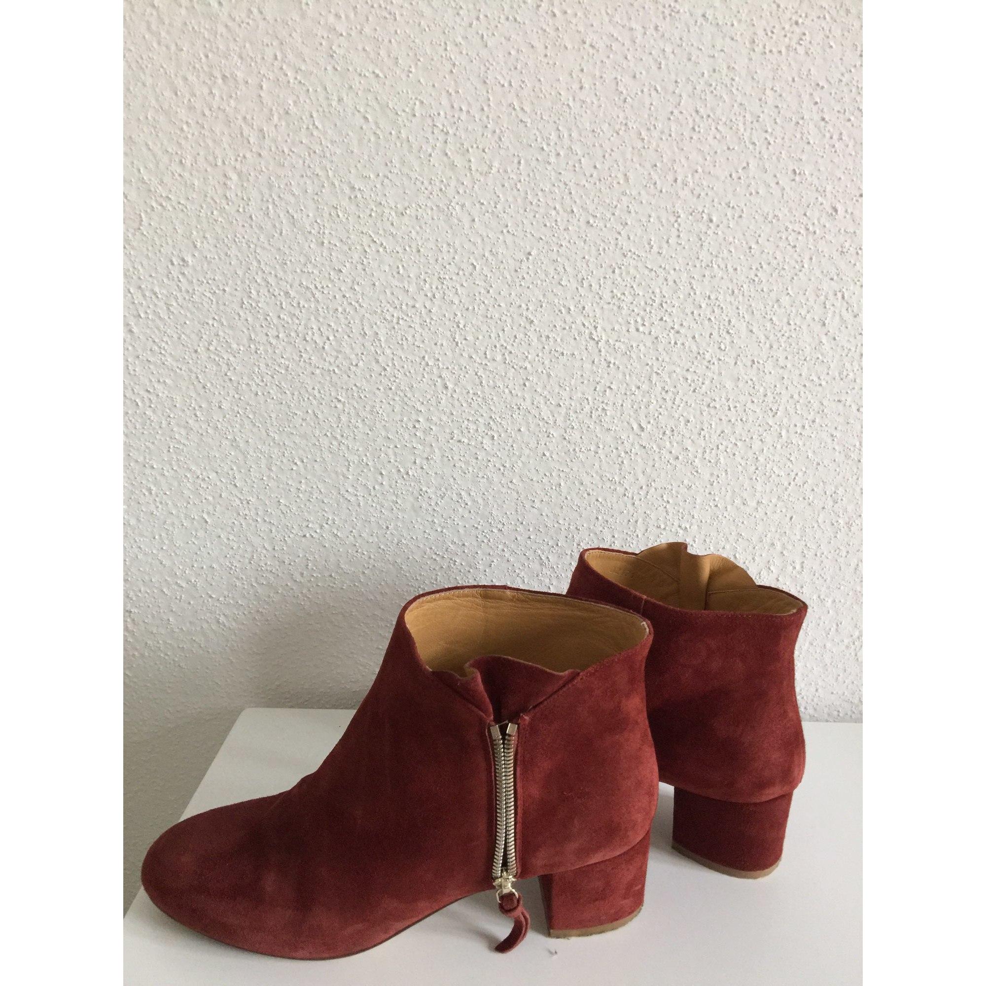 Bottines   low boots à talons SÉZANE 40,5 rouille vendu par Estrella ... 53f44f294ff4