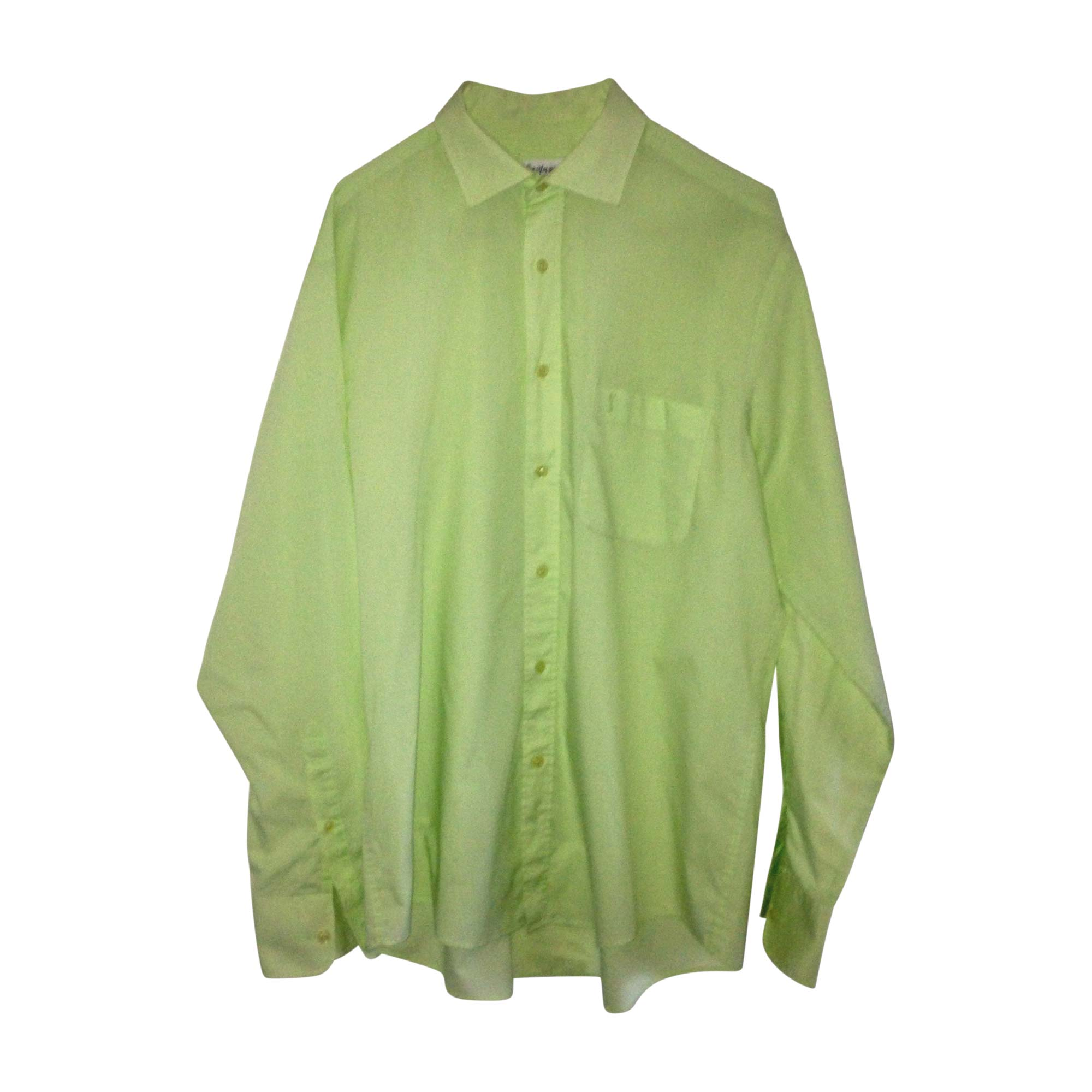 chemise yves saint laurent 41 42 l vert vendu par clic. Black Bedroom Furniture Sets. Home Design Ideas
