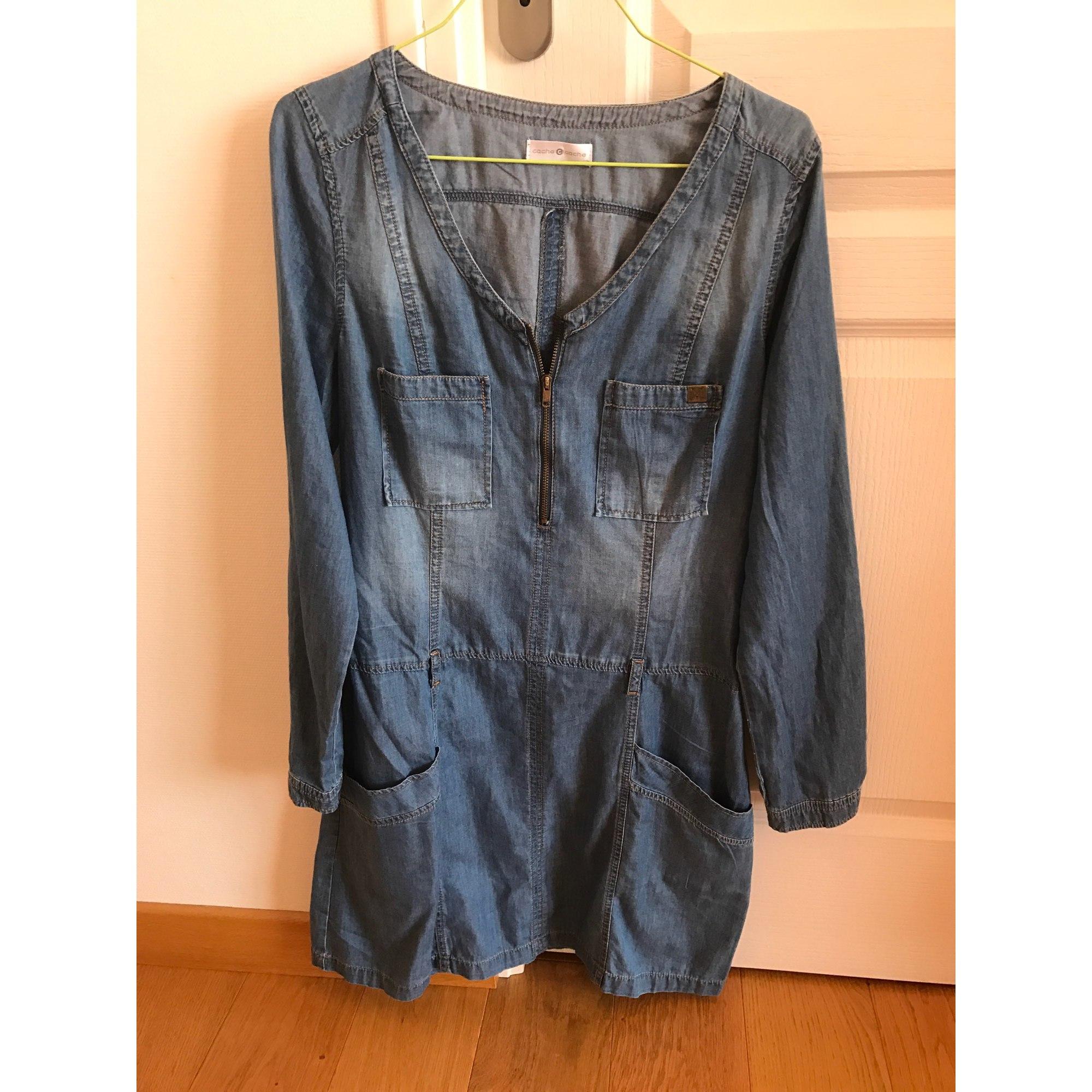 7e9c88336dea83 Robe en jeans