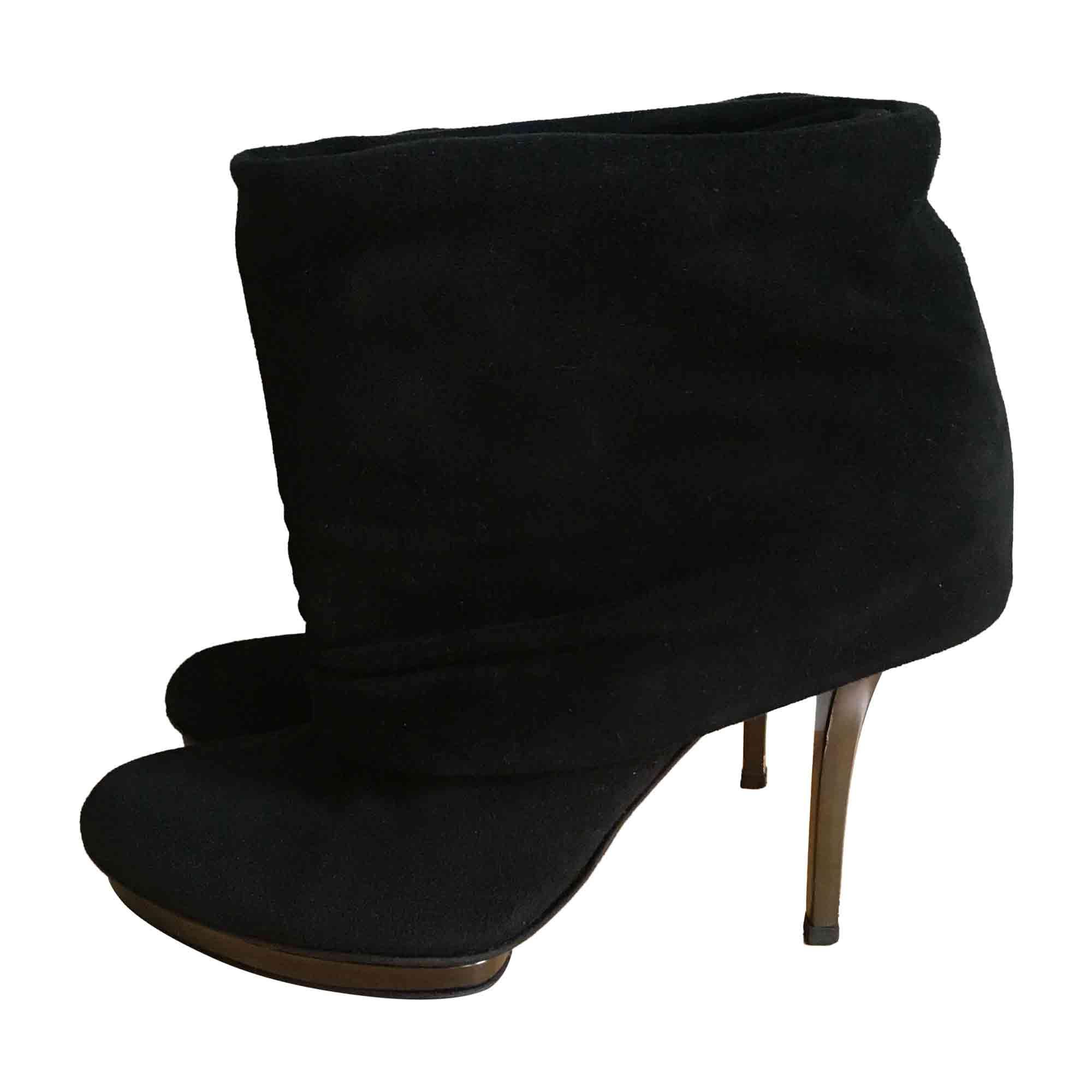 a91bbd24a98 Bottines   low boots à talons GUCCI 37 noir - 6197807