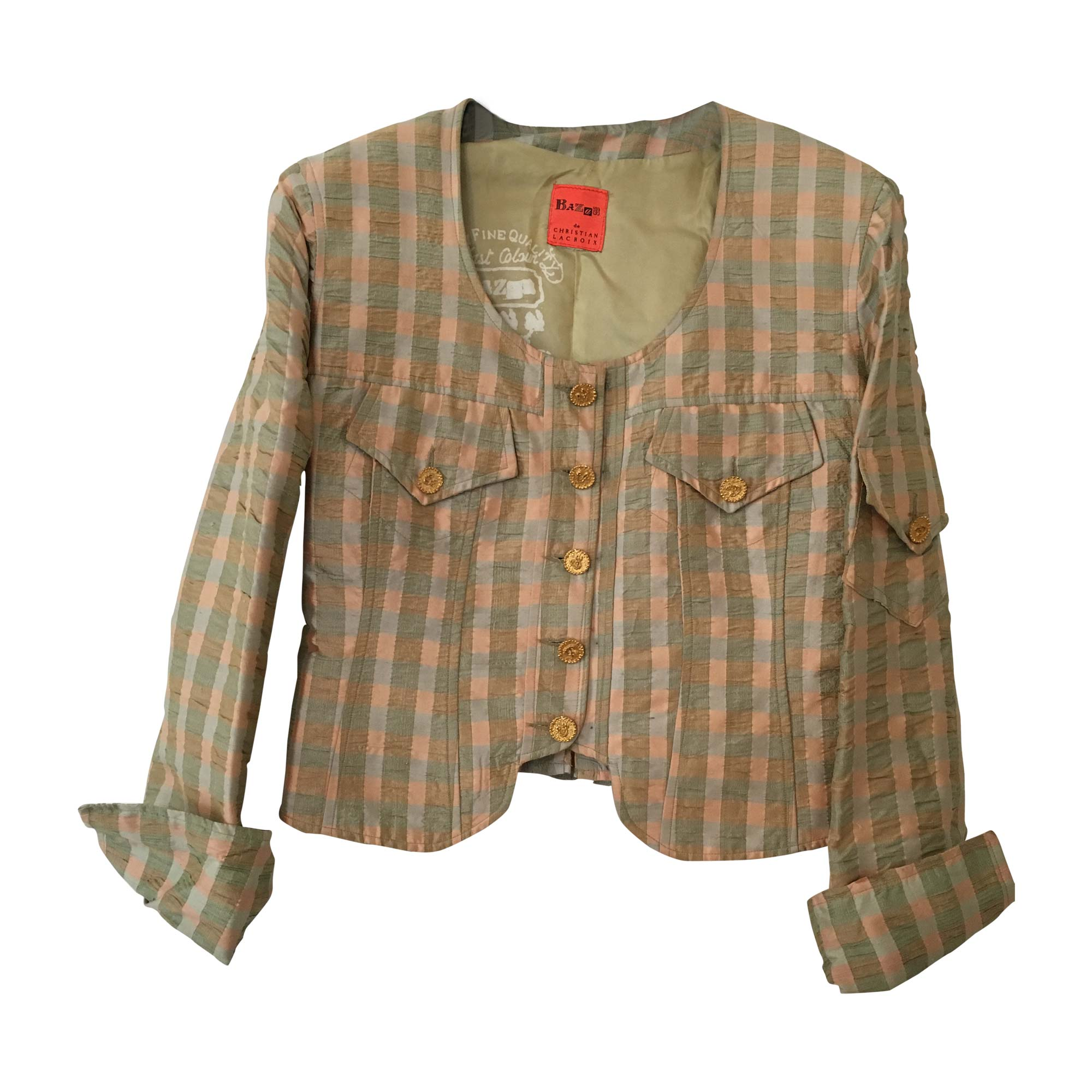 blazer, veste tailleur christian lacroix 40 (l, t3) vert - 6199748