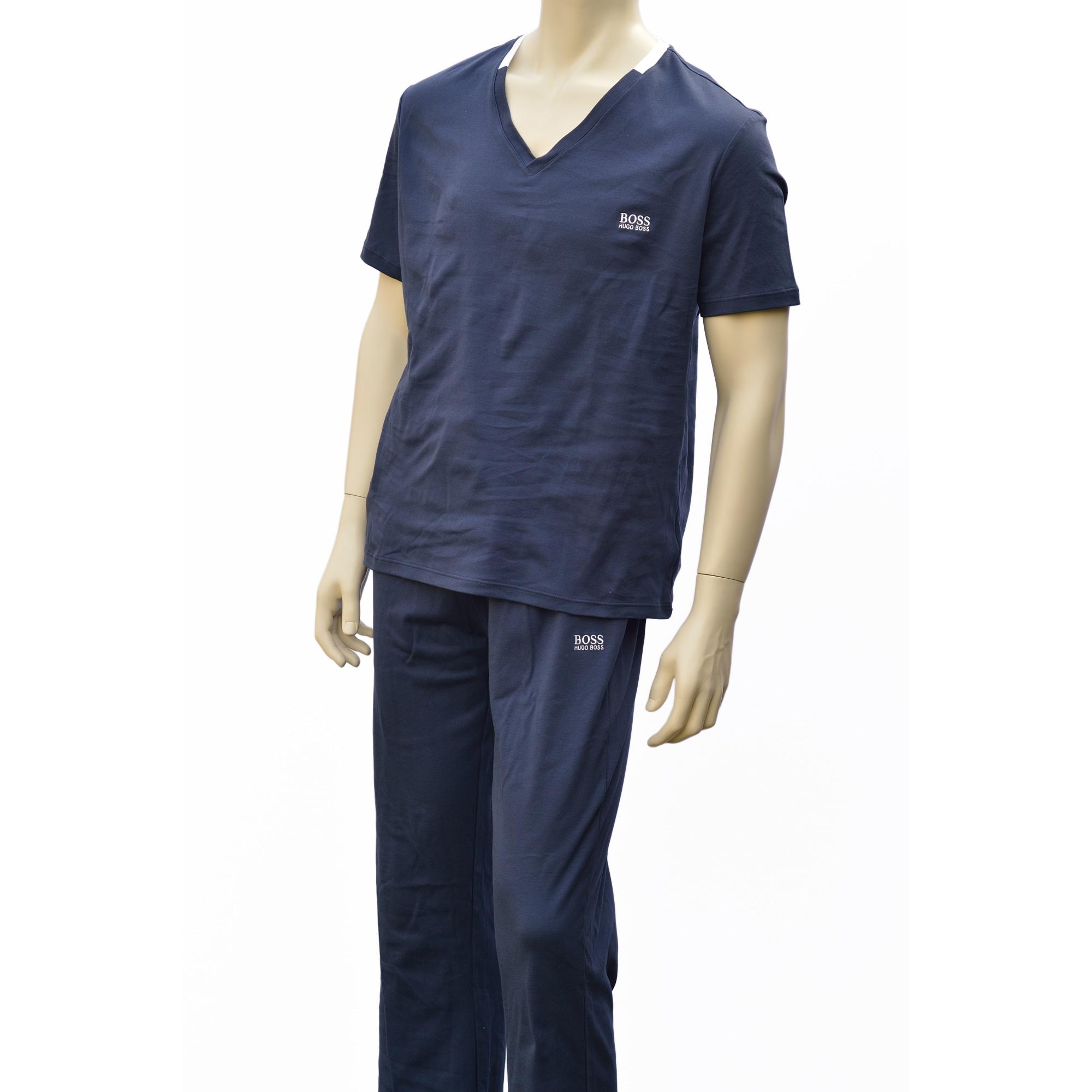 Pyjama HUGO BOSS Blau, marineblau, türkisblau