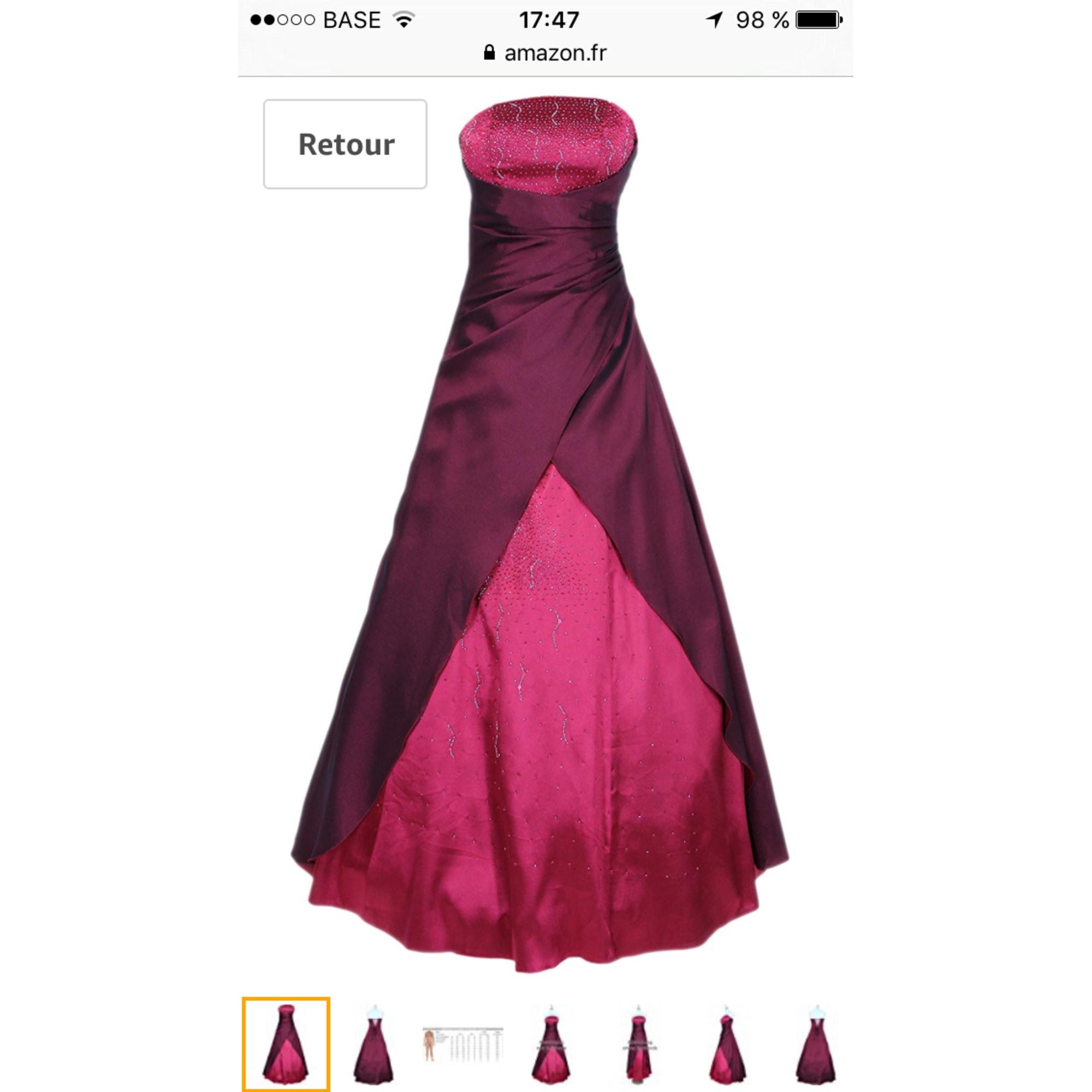 d2c68cb94dd5 Robe longue JUJU   CHRISTINE 38 (M, T2) rouge - 6206099