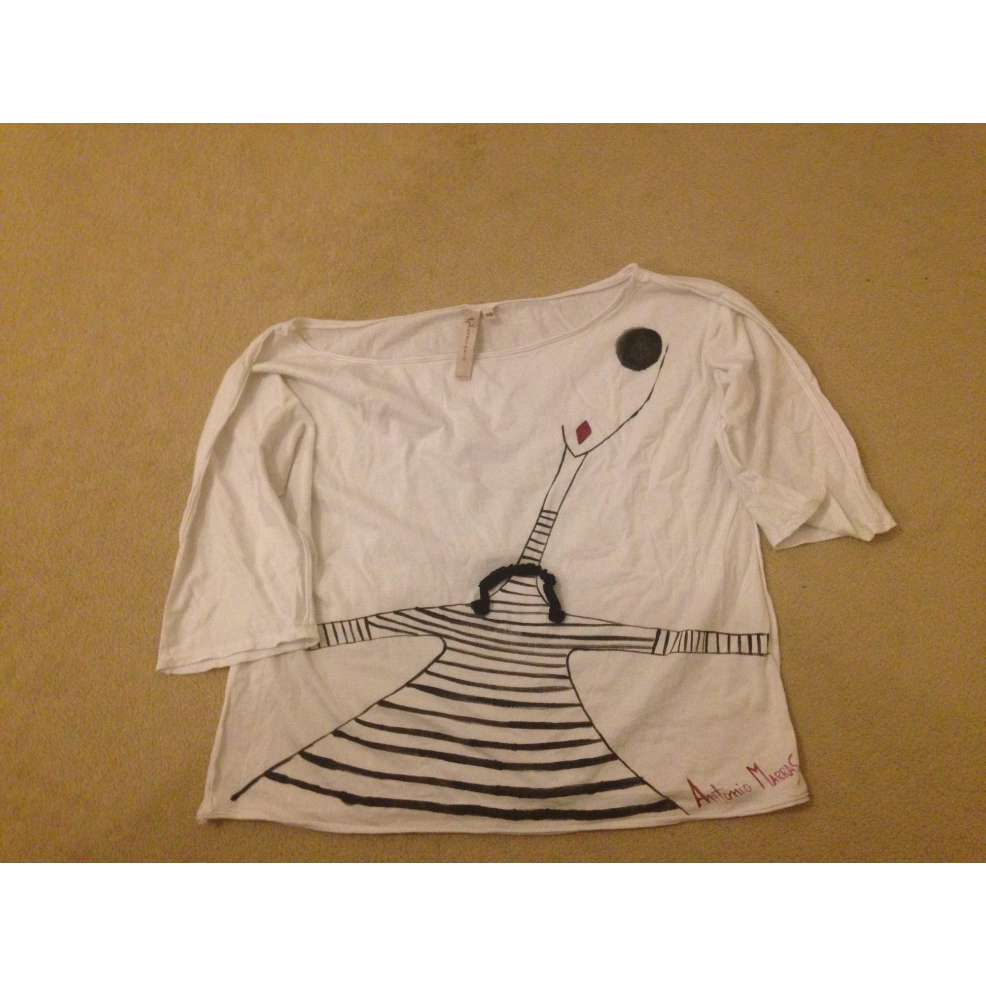 Shirt Blanc Top Marras Antonio Blanc Tee Écru Cassé 55qIrwA