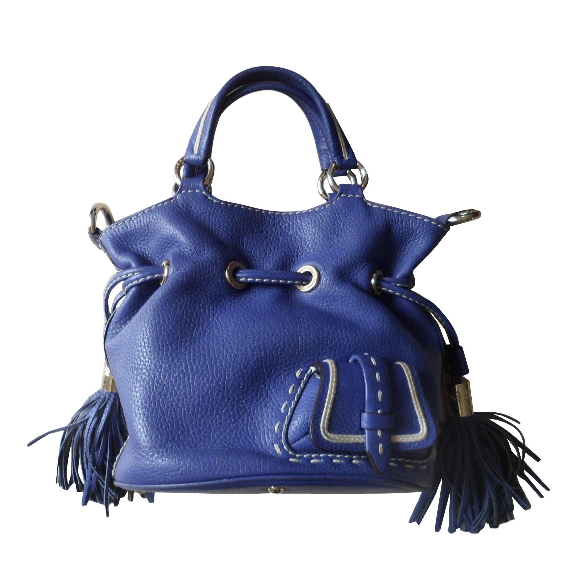 861d8567d5 Sac à main en cuir LANCEL 1er Flirt Bleu, bleu marine, bleu turquoise