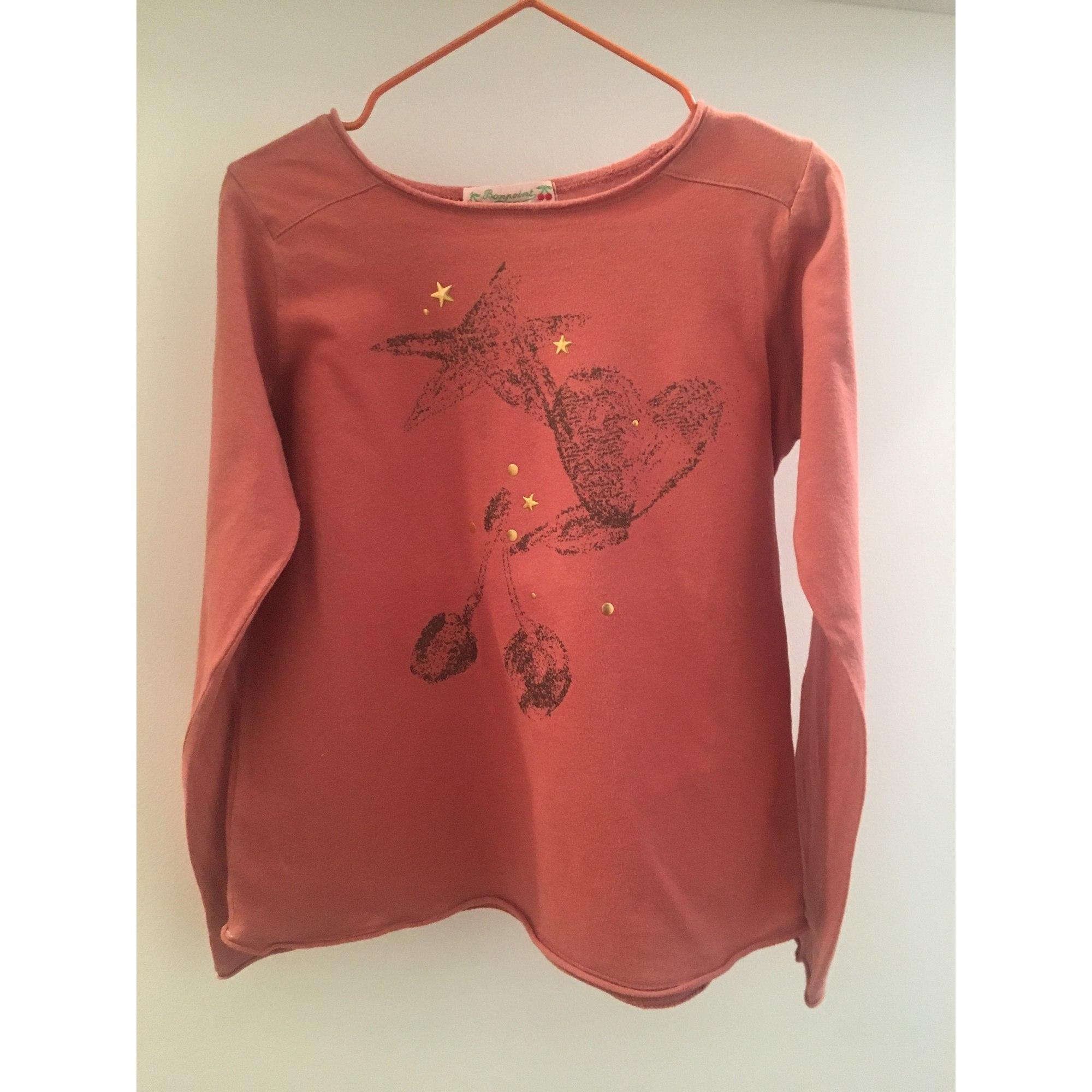 Top, Tee-shirt BONPOINT coton orange 5-6 ans