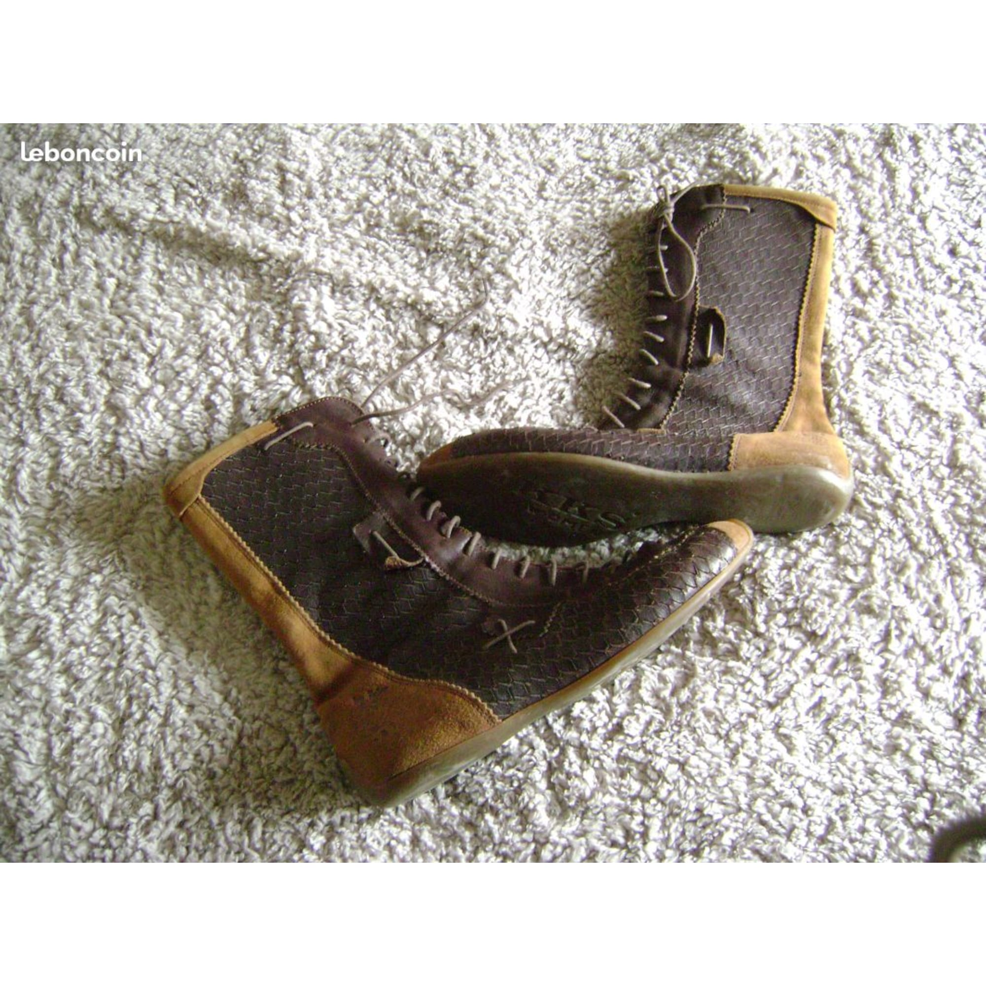 Bottines & low boots plates ONE STEP Marron