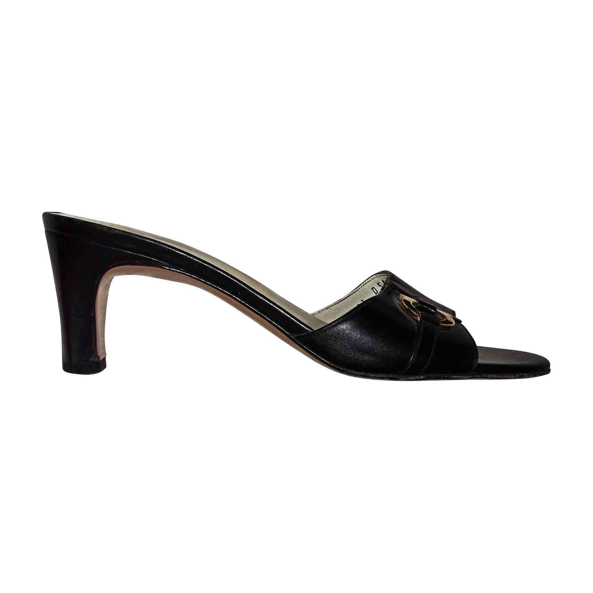 Sandales à talons SALVATORE FERRAGAMO 37 noir - 6246429 7aba1f8dc823