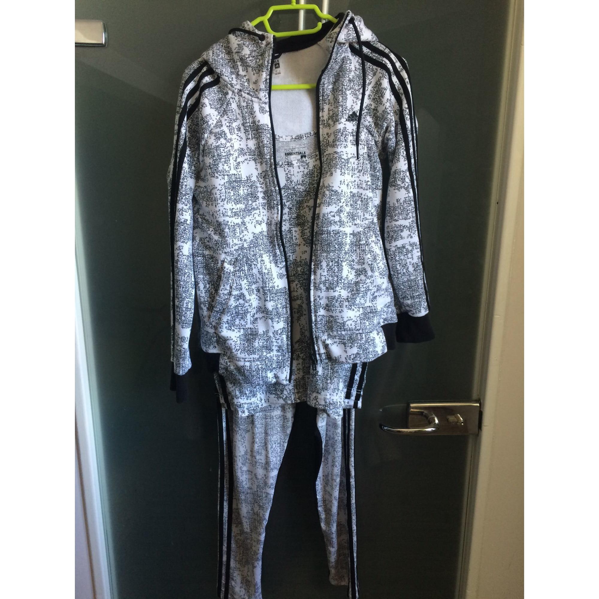 49459fb0ac662 Ensemble jogging ADIDAS 38 (M, T2) noir et blanc vendu par Virginie ...