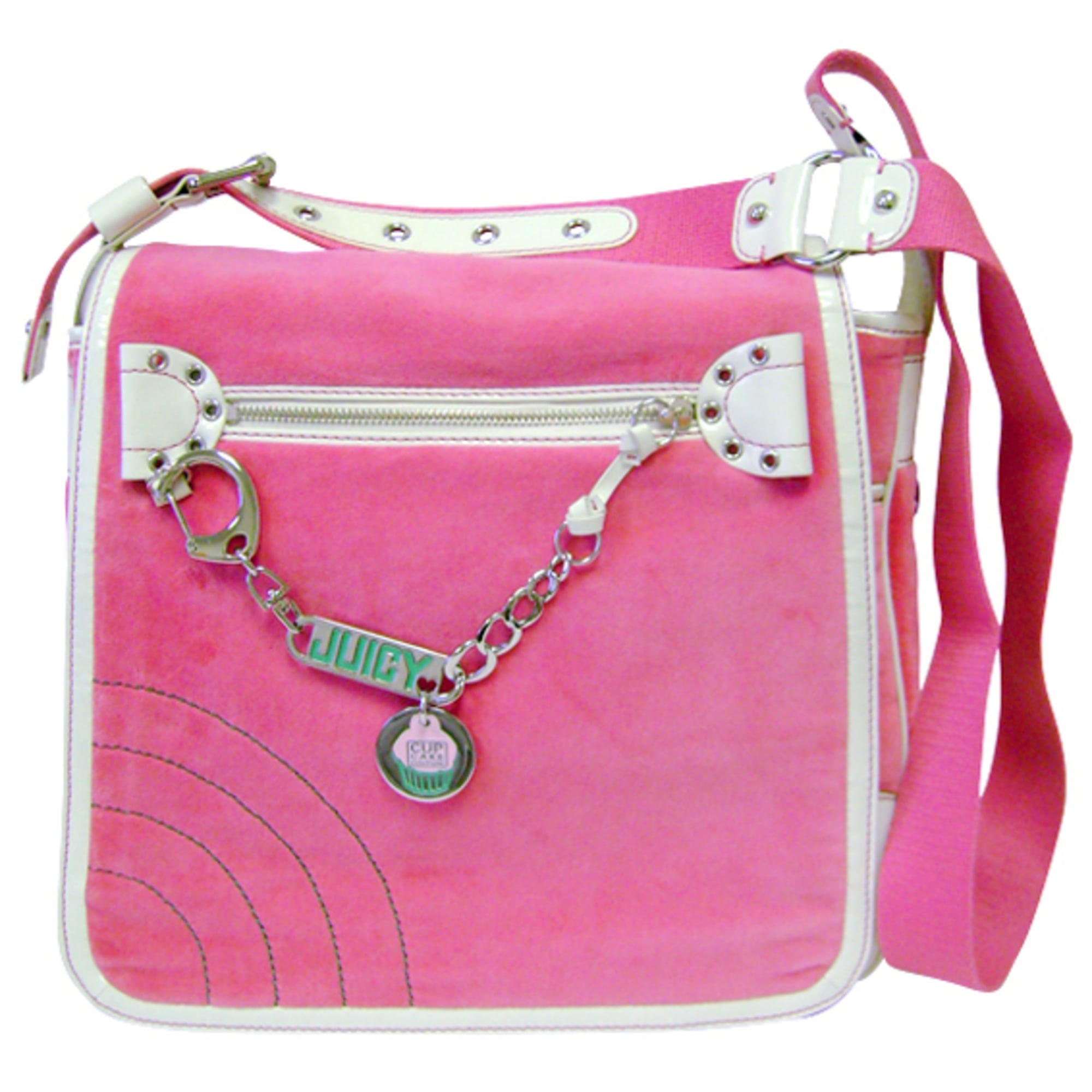 Sacoche JUICY COUTURE velour rose