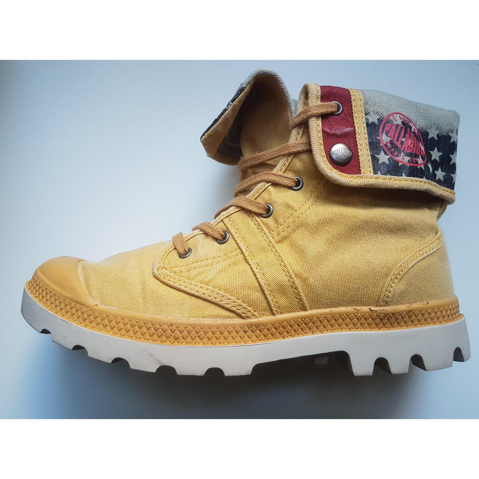 À Lacets Palladium 6261163 38 Jaune Chaussures UgqA4x