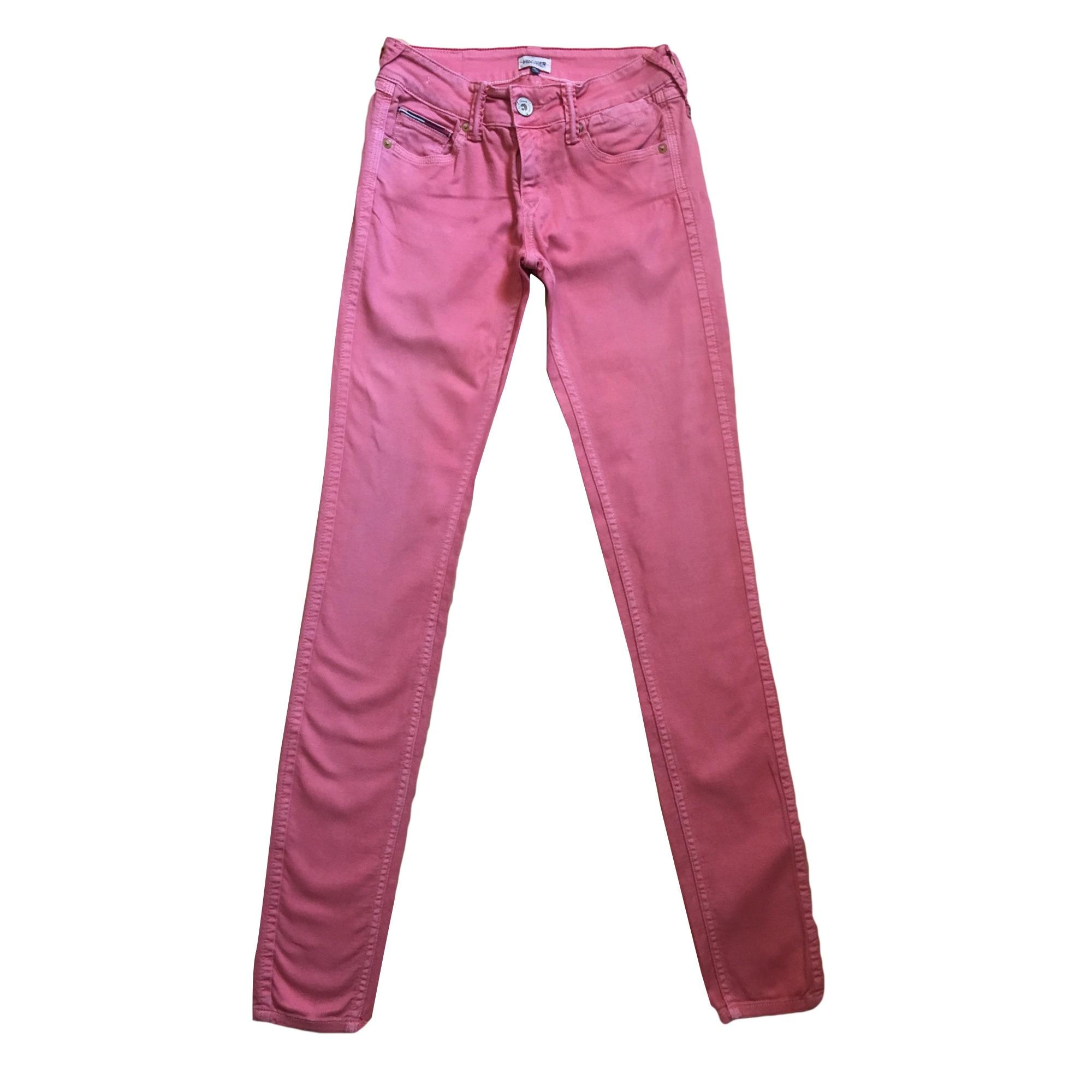 Jeans slim TOMMY HILFIGER Rose, fuschia, vieux rose