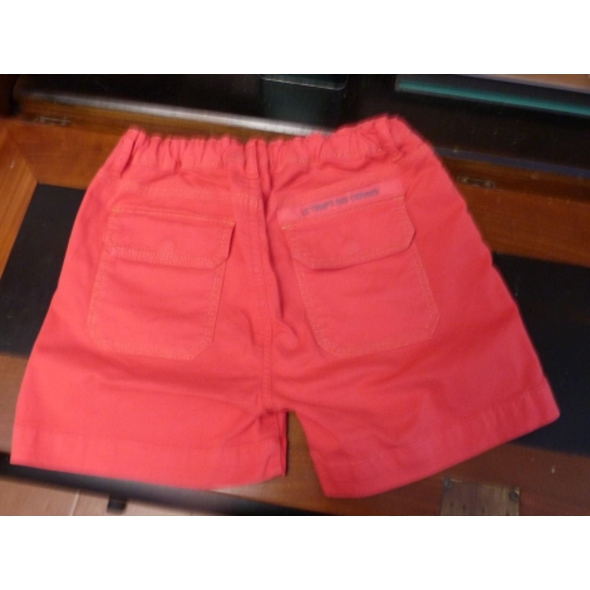 Short TEMPS DES CERISES coton rouge 13-14 ans