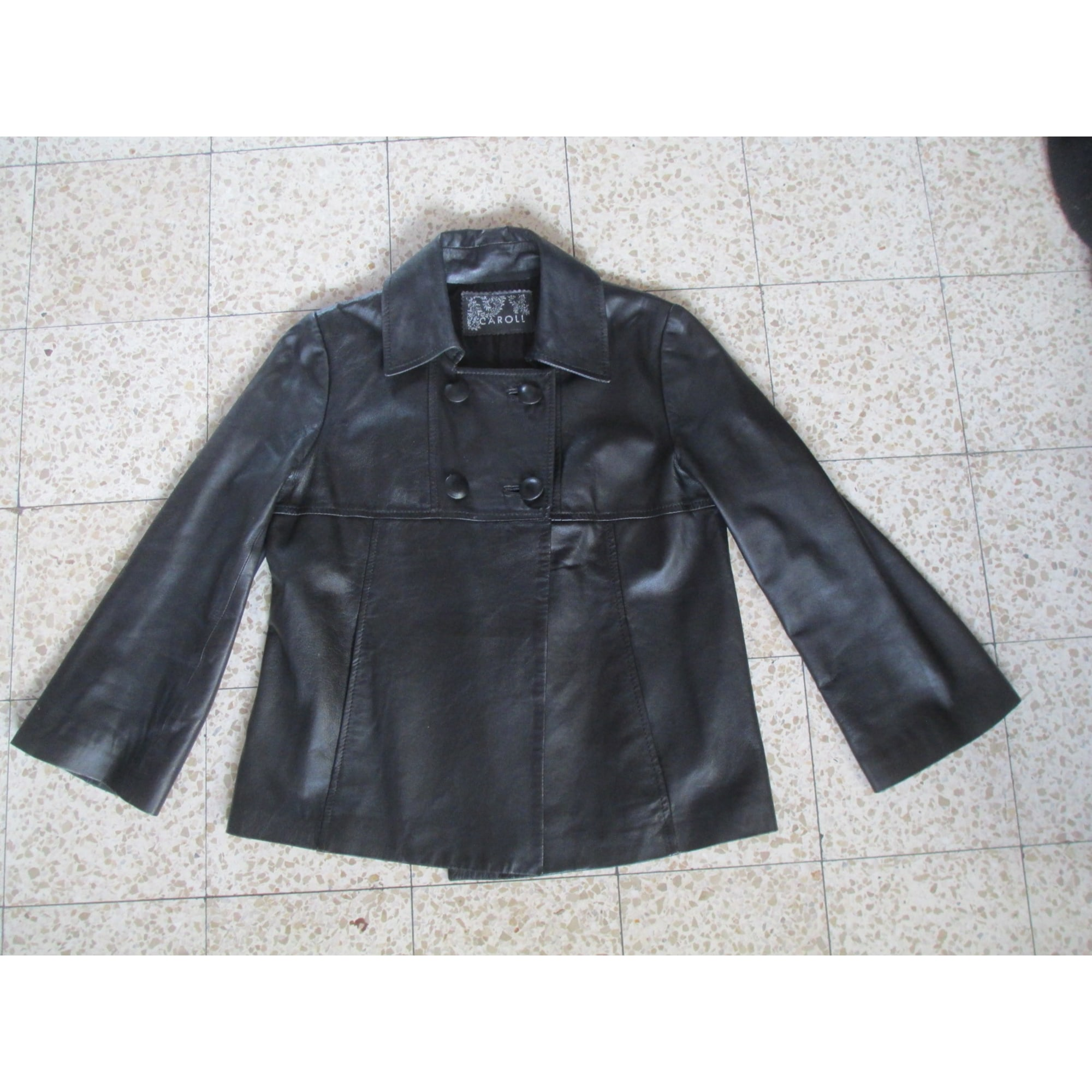 Veste en cuir CAROLL 36 (S, T1) noir - 6274264 b23dbc4d069