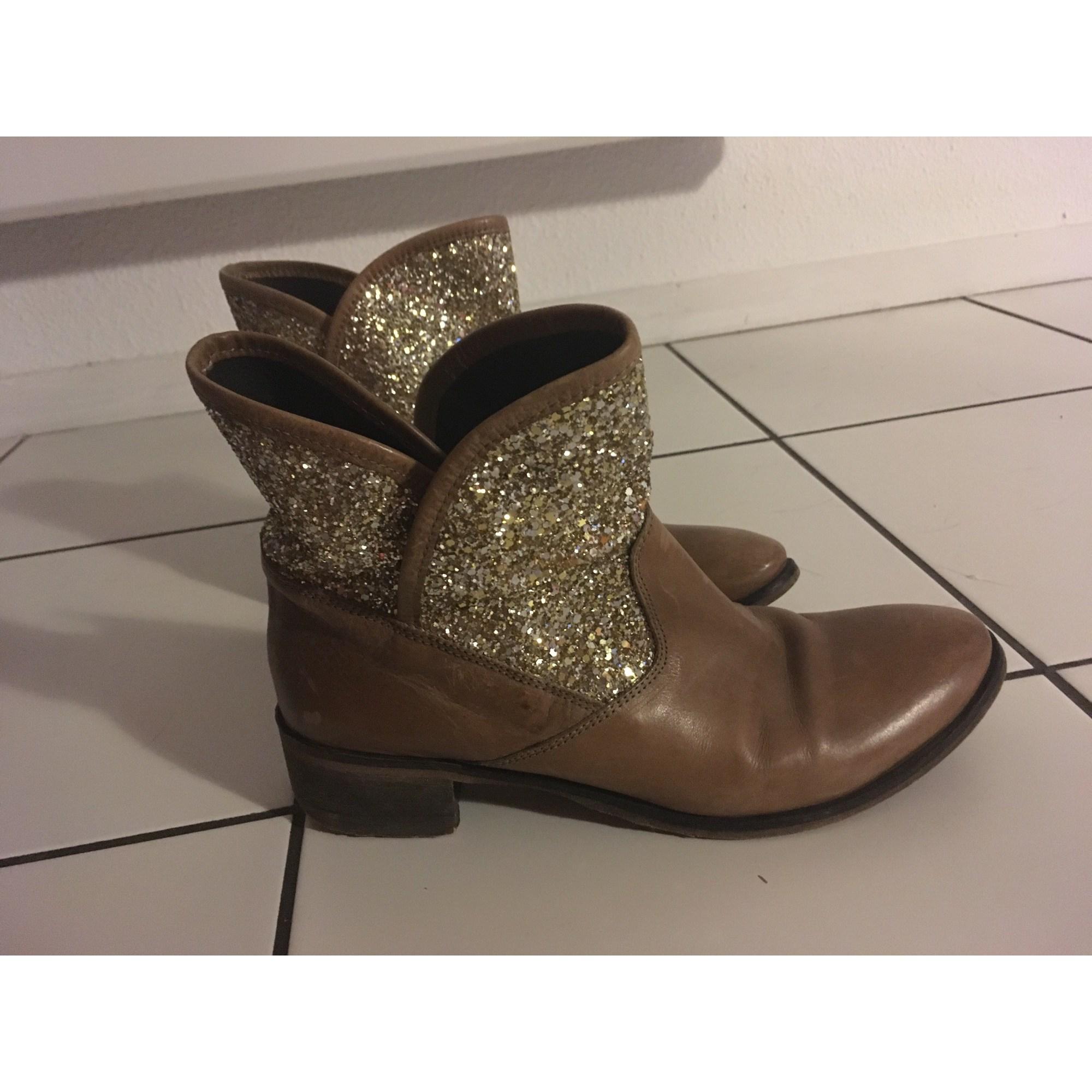 192a83dfc Santiags, bottines, low boots cowboy MELINE