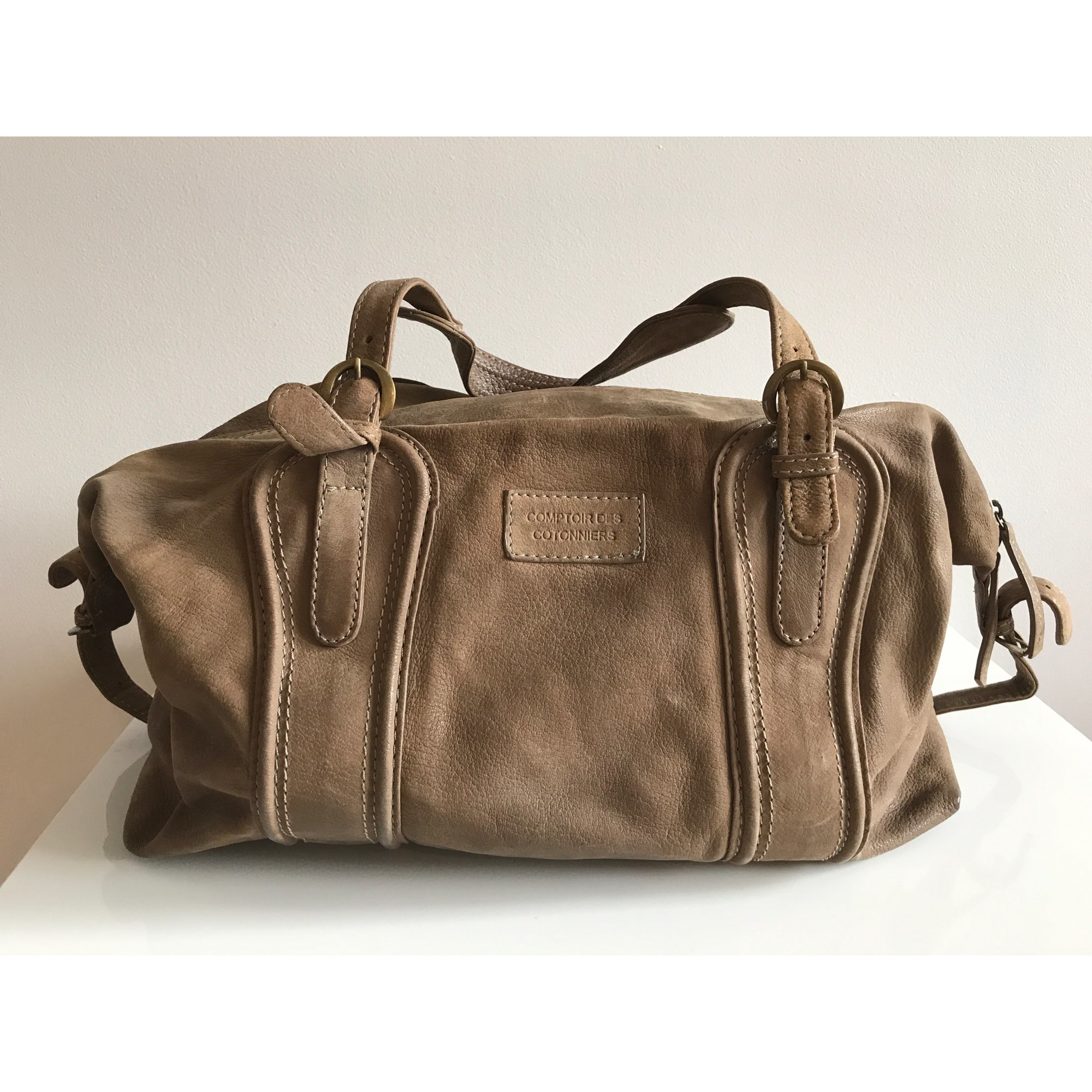 Sac xl en cuir comptoir des cotonniers beige vendu par laline 8 6306352 - Cuir comptoir des cotonniers ...