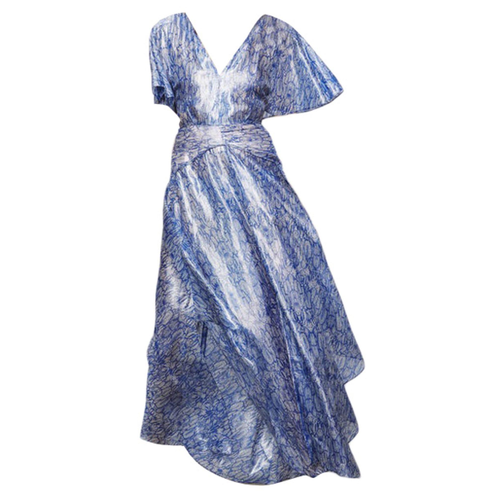 robe longue maje bleue