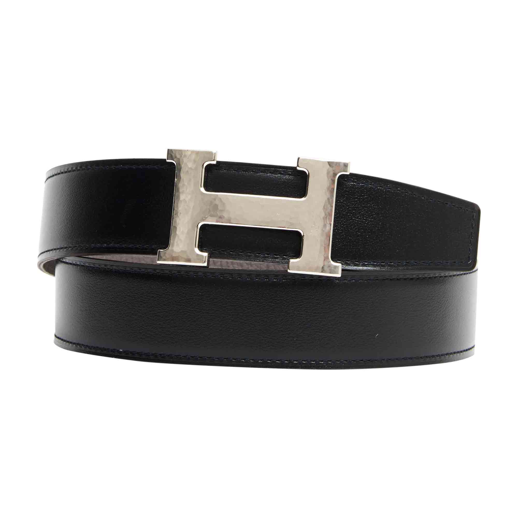 Ceinture fine HERMÈS ceinture h 90 noir vendu par Larcher - 6312339 0e38660b1e9