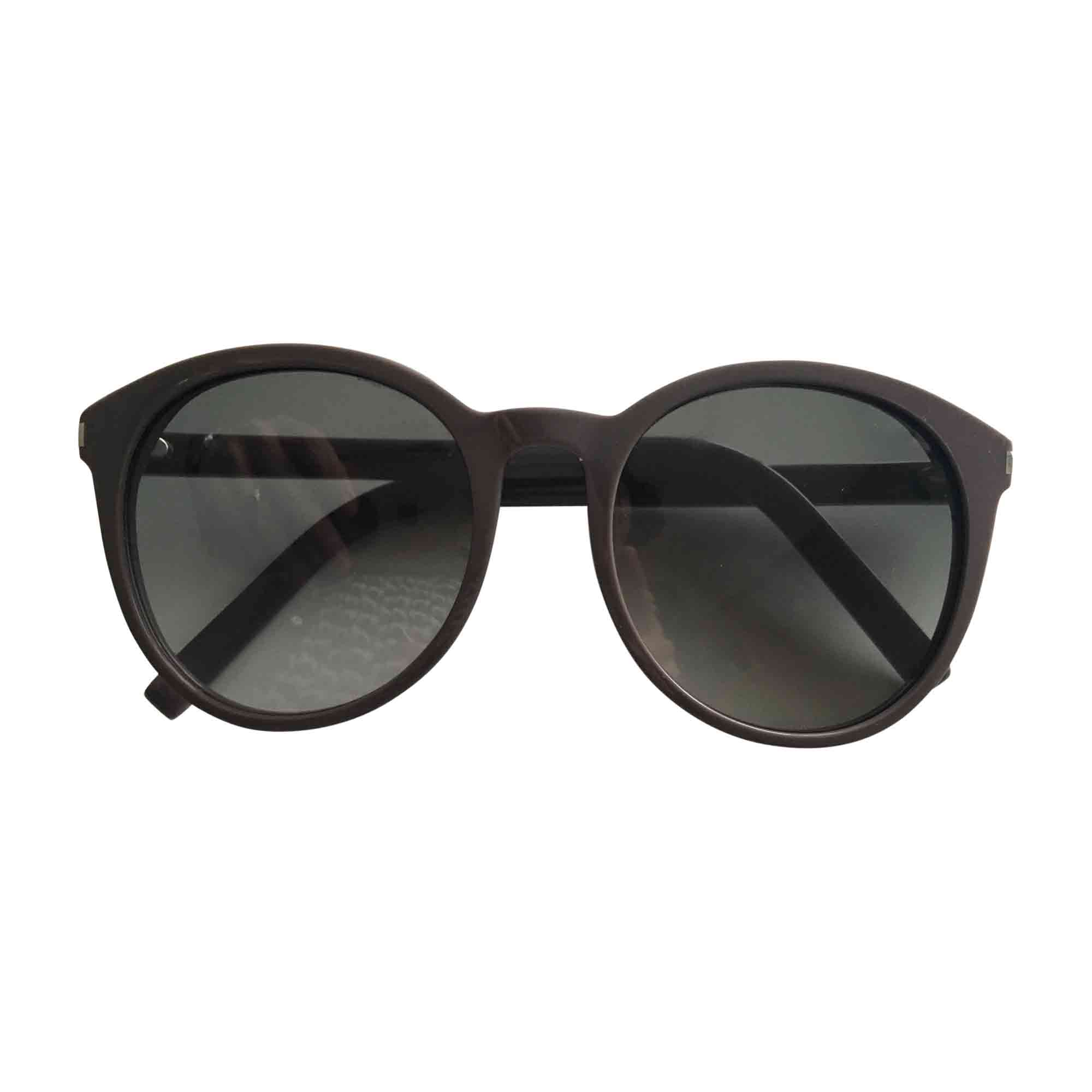 lunettes de soleil yves saint laurent gris 6331655. Black Bedroom Furniture Sets. Home Design Ideas
