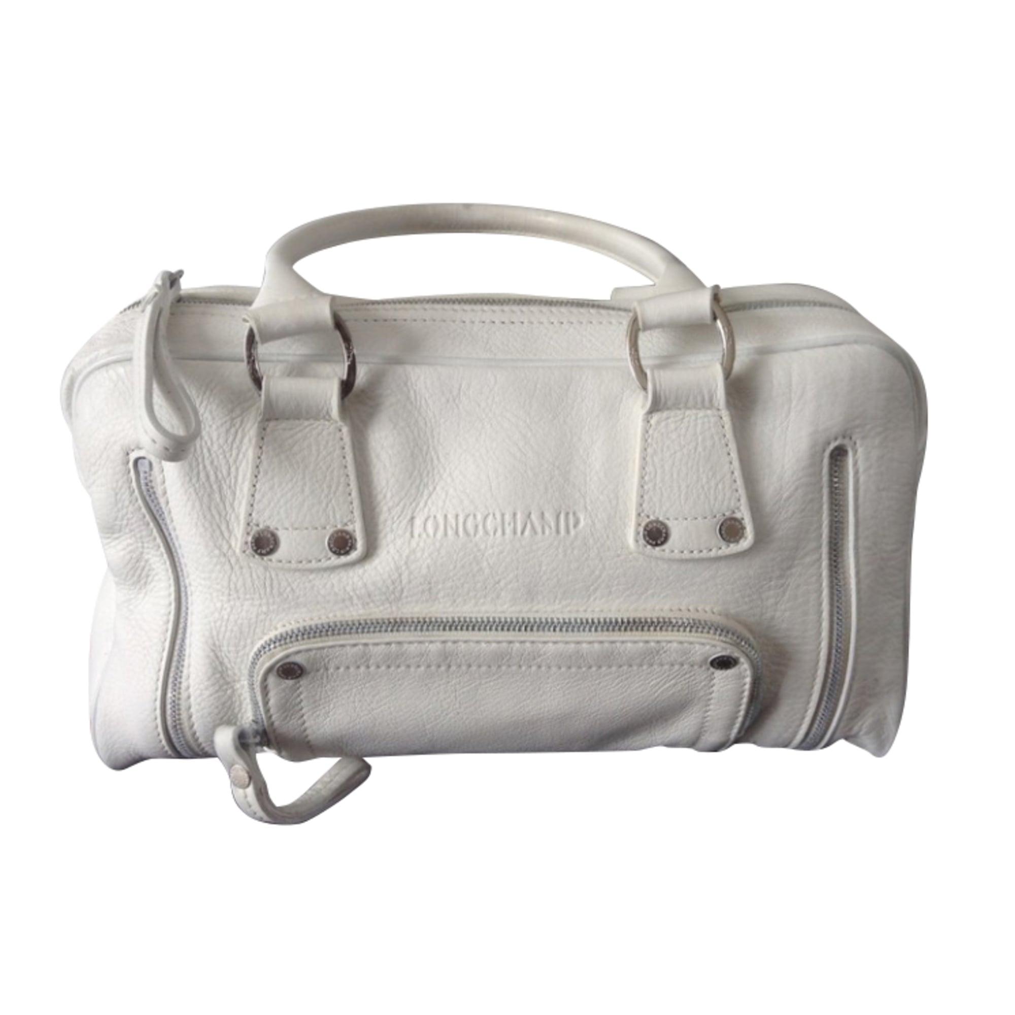 Borsa Longchamp Leroyaumedejade pelle 6341363 in bianca venduta da T6wn8xdnqz