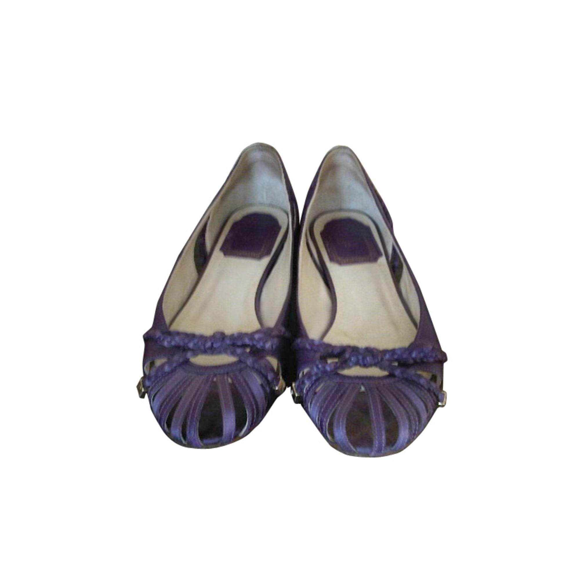 Ballerines DIOR Violet, mauve, lavande