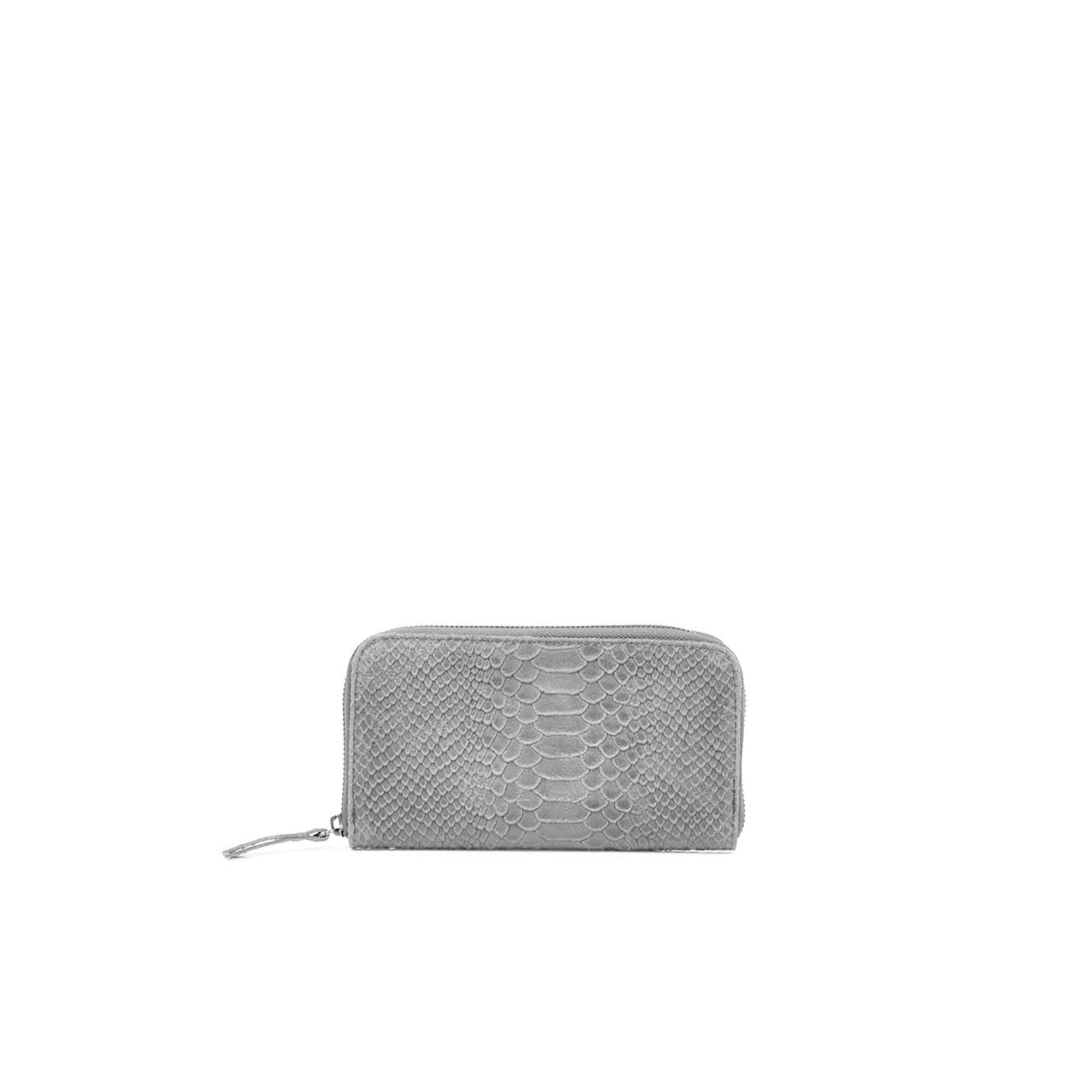Portefeuille DLM cuir gris