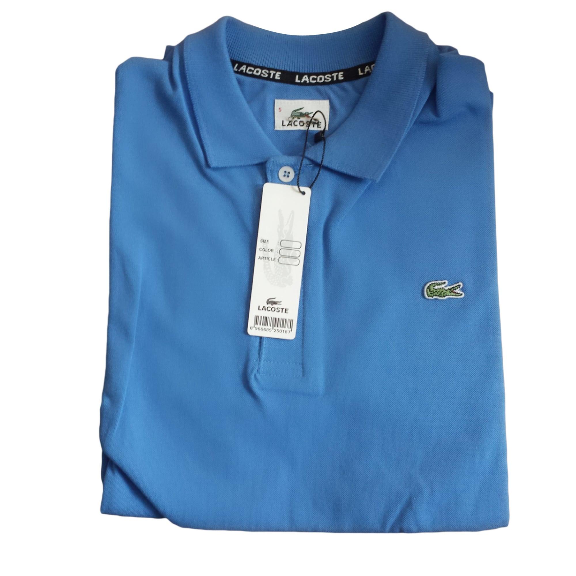 fabe732e84 Polo LACOSTE Bleu, bleu marine, bleu turquoise